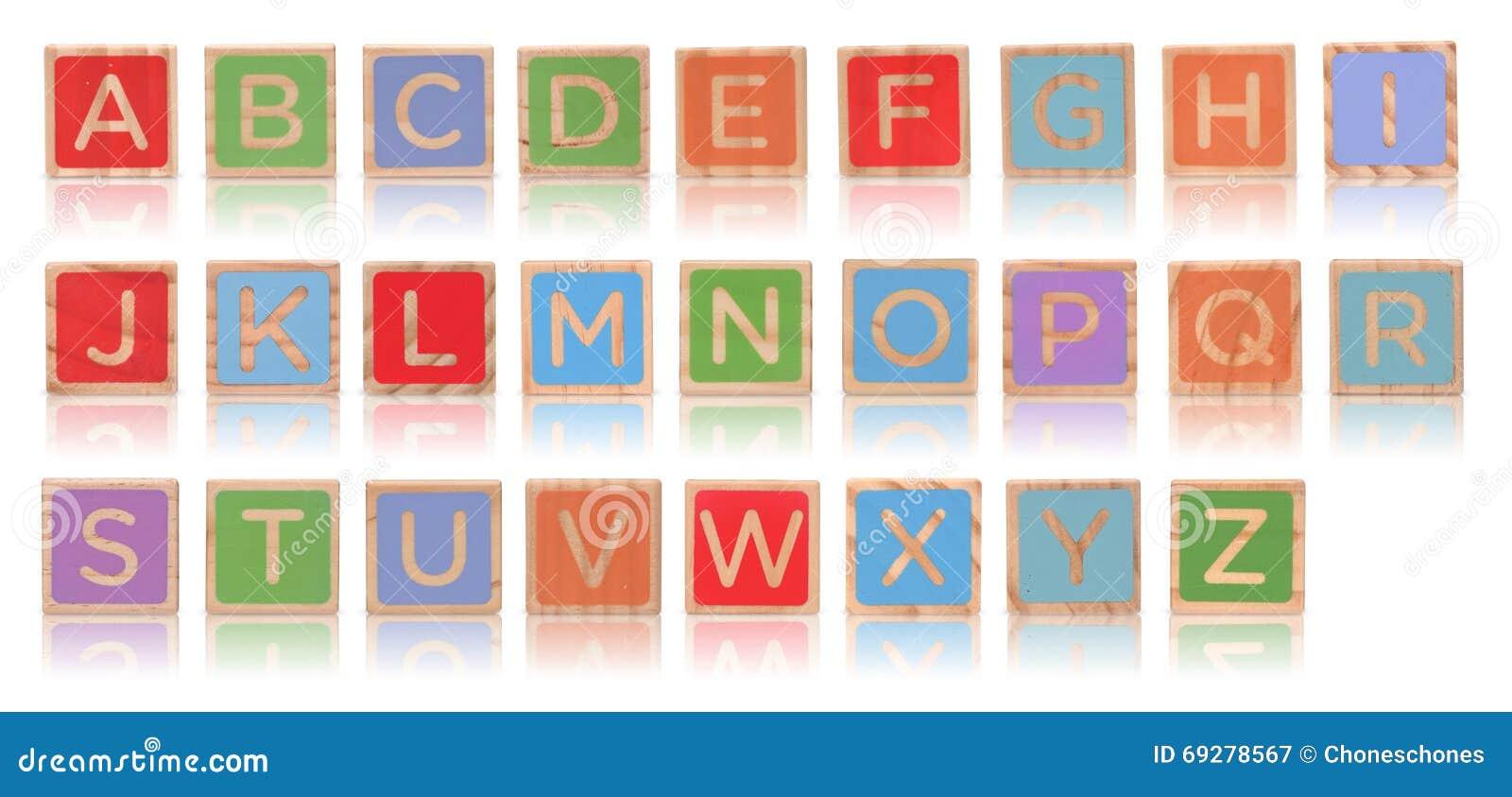 Blocos do alfabeto