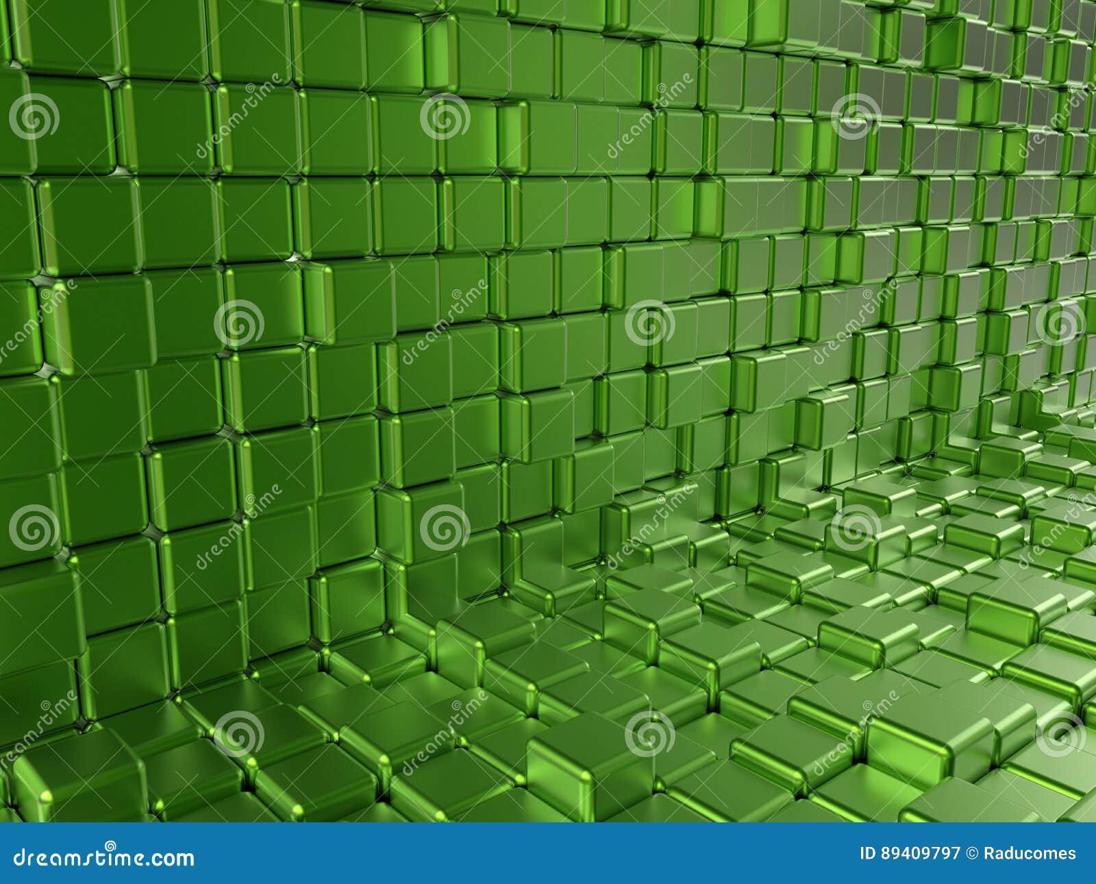 Blocos reflexivos verdes