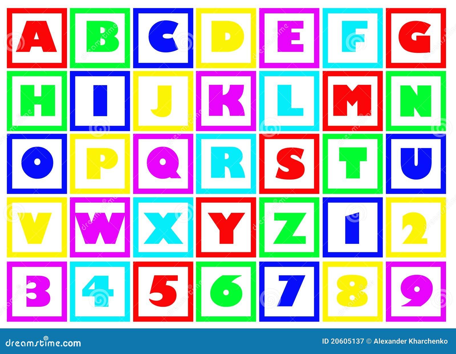 Blocs d alphabet
