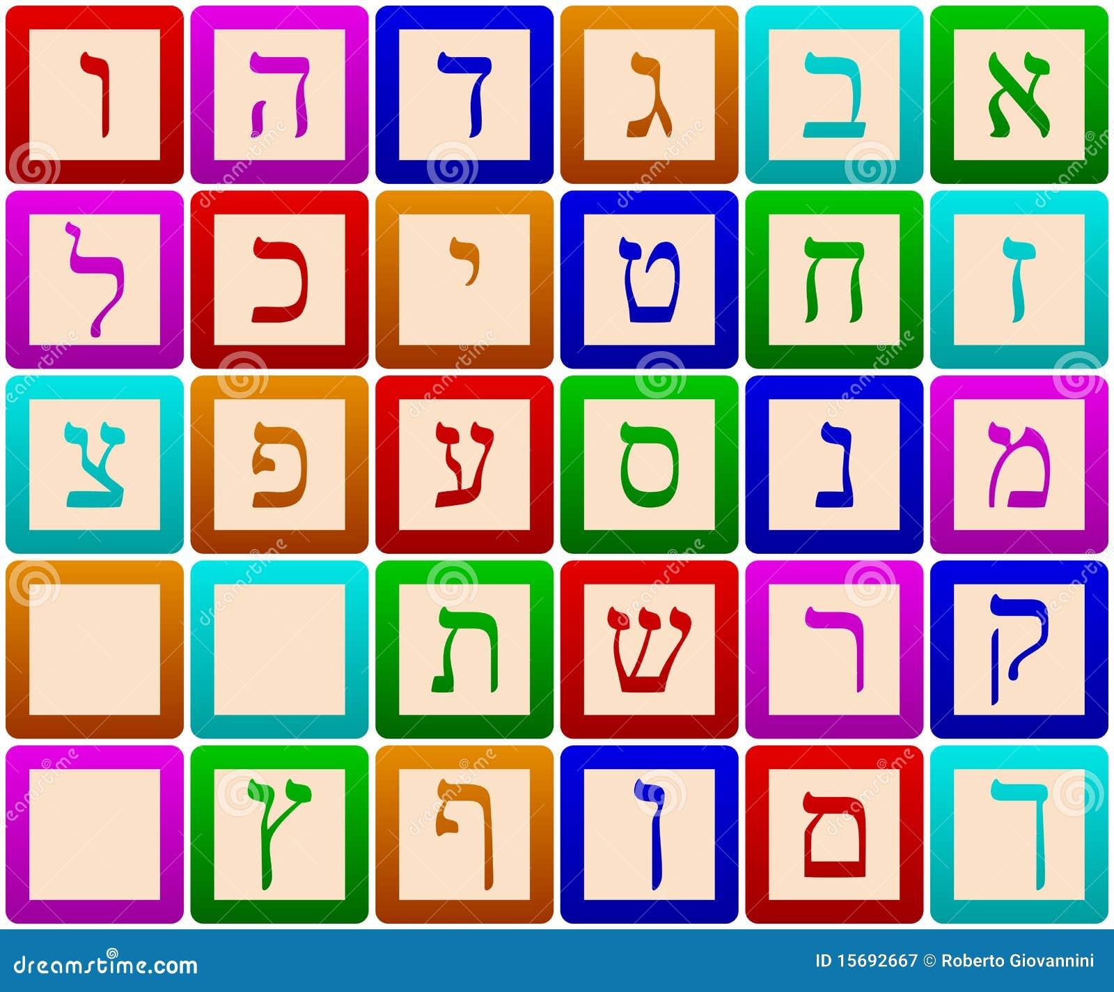 Blocs d alphabet hébreu