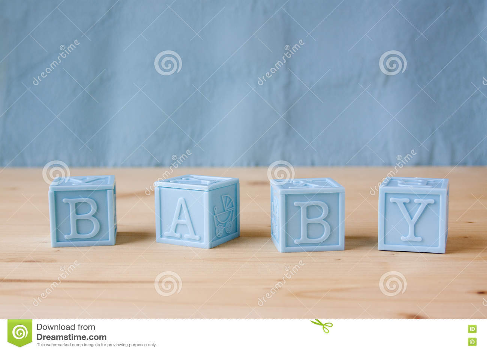Blocs de bébé bleu