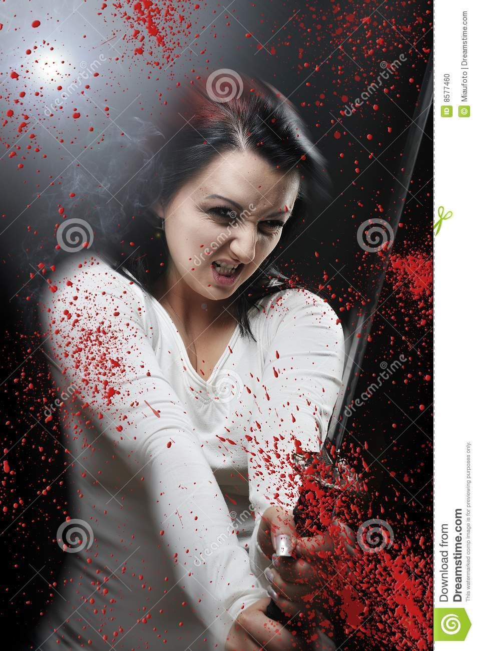 Blod Katana Killer Girl Stock Photo Image 8577460