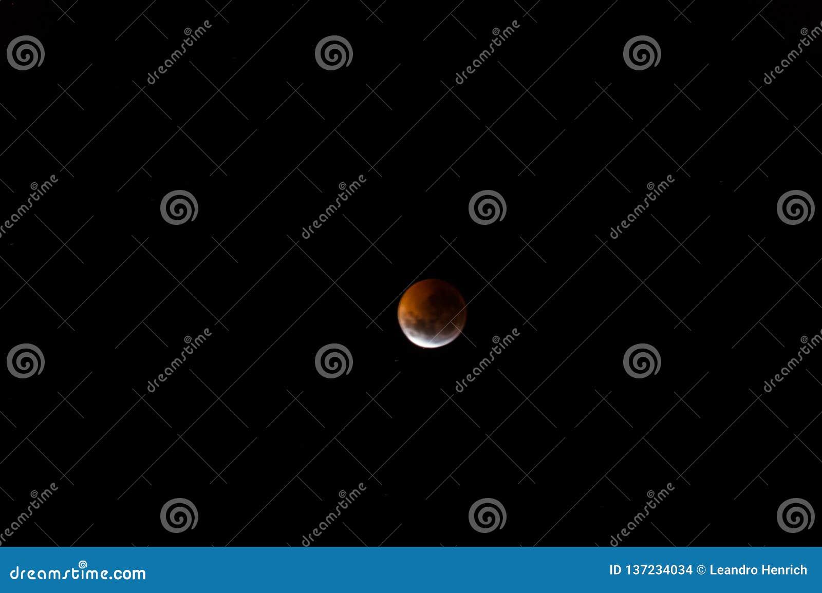Blodig måne: Den sammanlagda månförmörkelsen av 2019