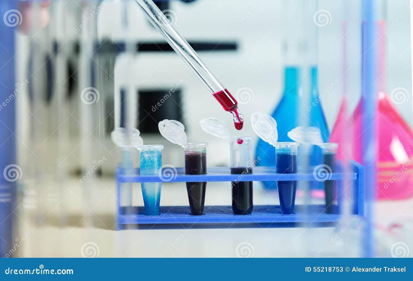 Blodprövkopior för forskning i microtubes