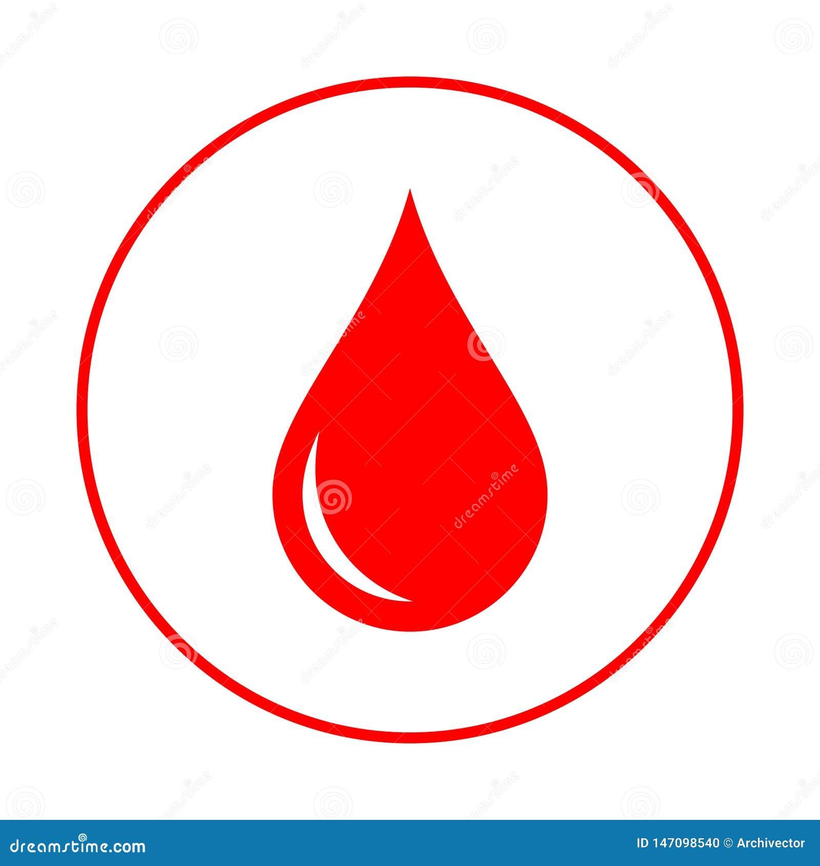 Bloeddaling in de cirkel Donorembleem