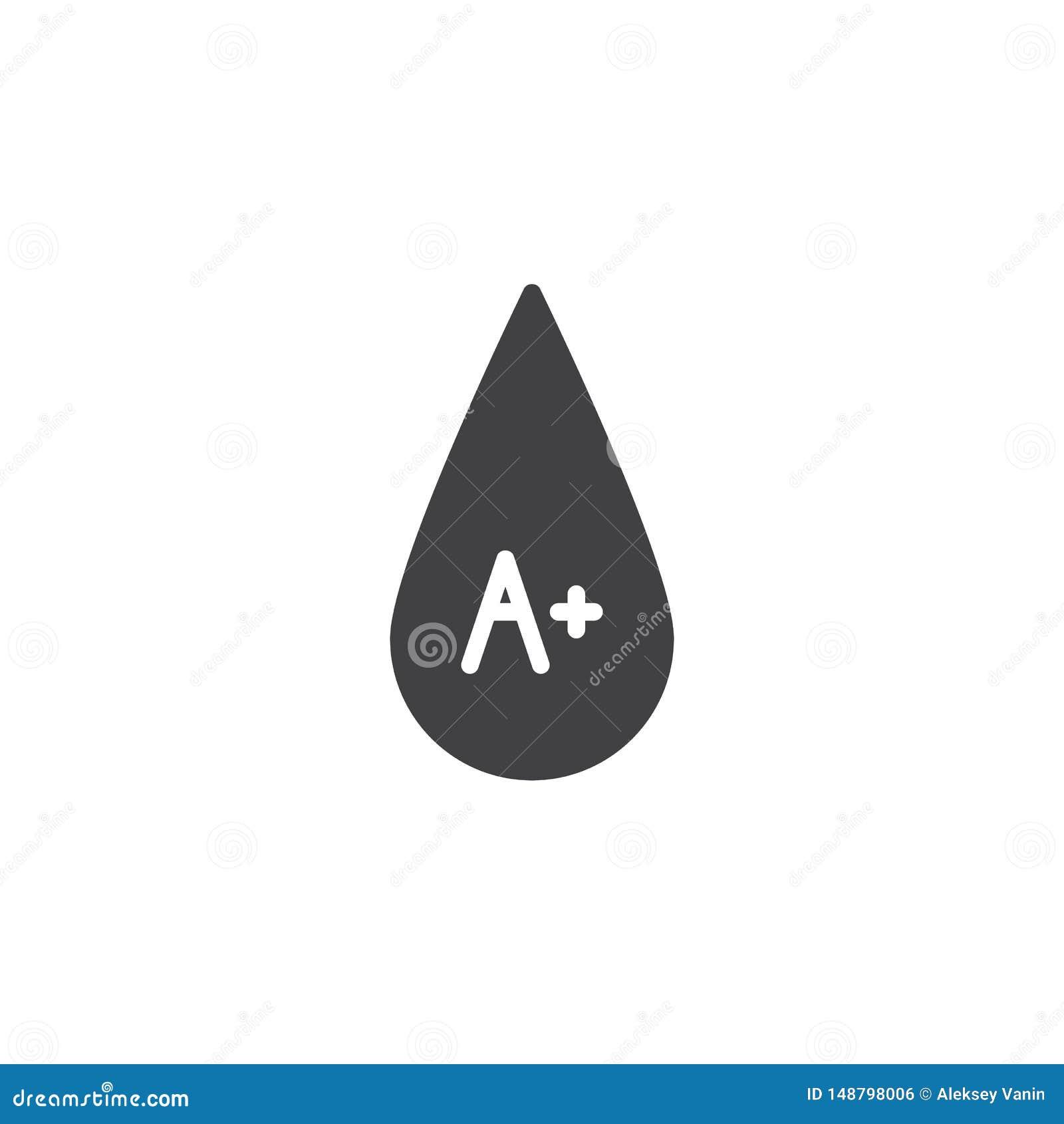 Bloedtype A plus vectorpictogram
