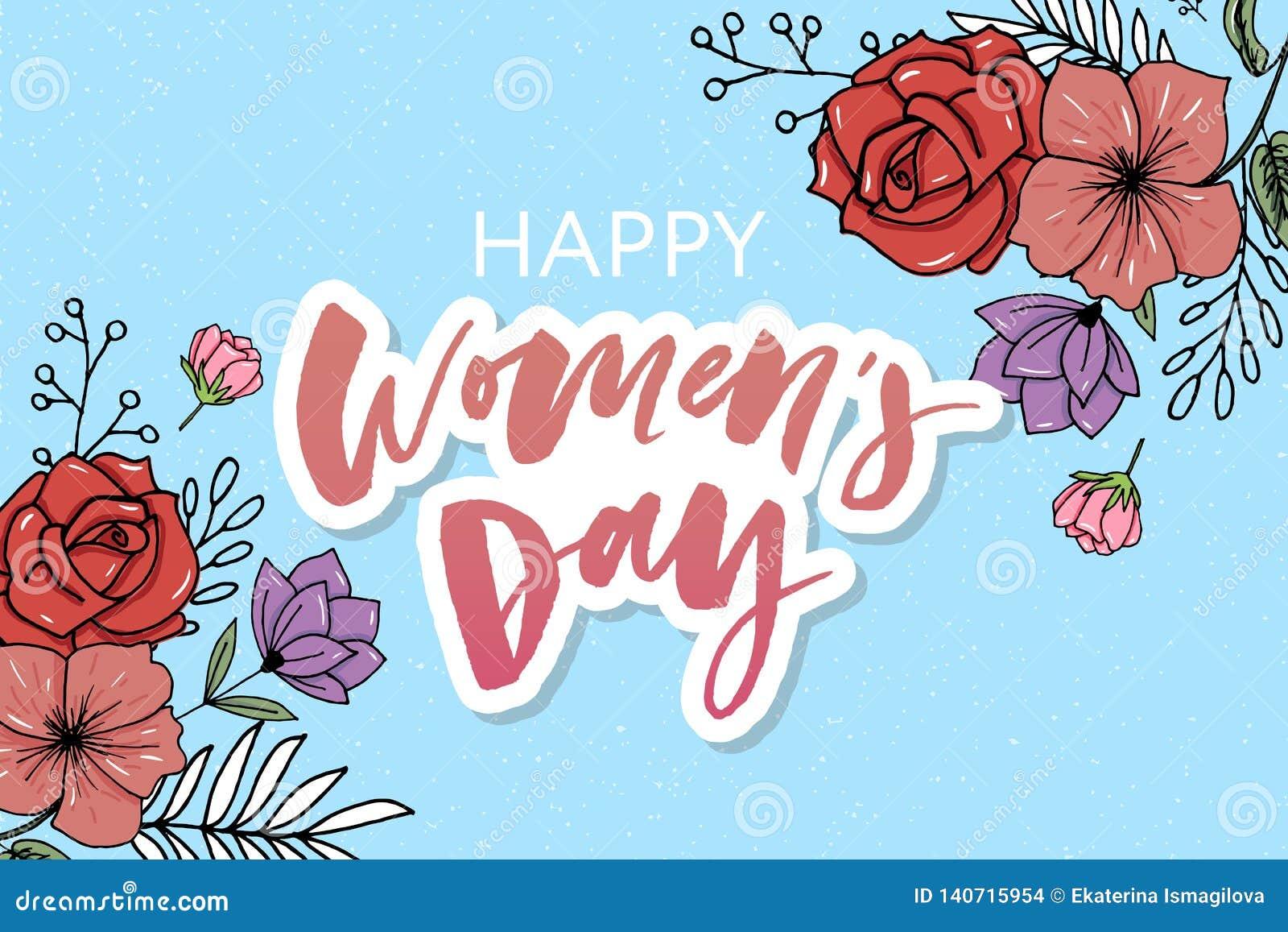 Bloeit mooie bloemen vector de bannerstijl van de waterverfverkoop voor 8 Maart, Mother' s Dag Women' s dag