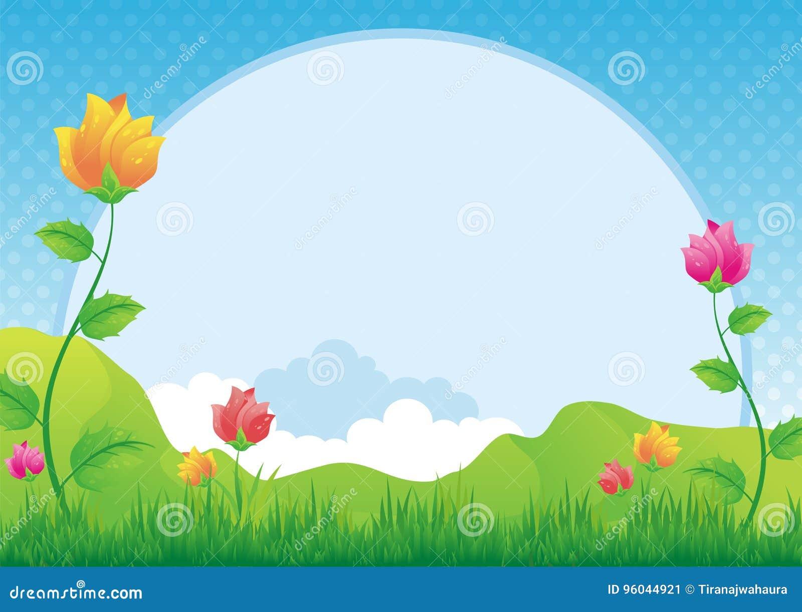 Bloem en grasachtergrond