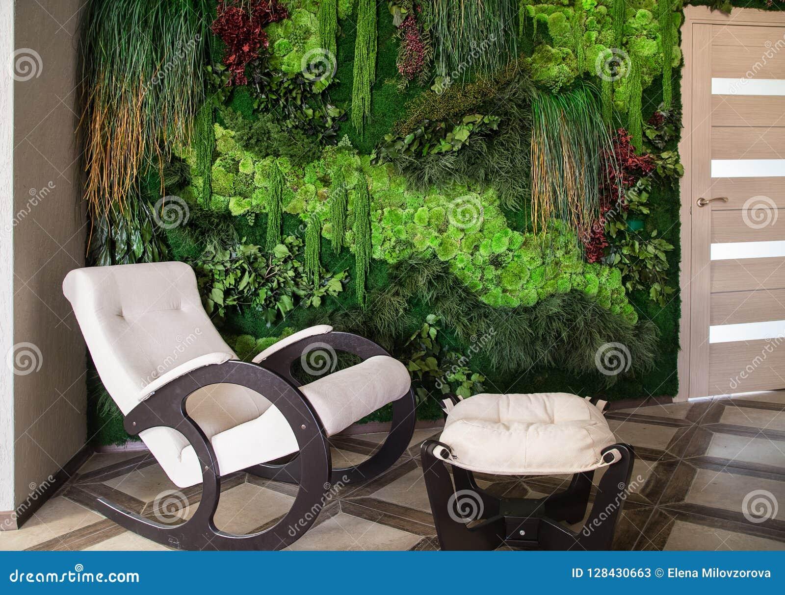 Bloem en installatiemuur verticale tuin Huis binnenlands ontwerp