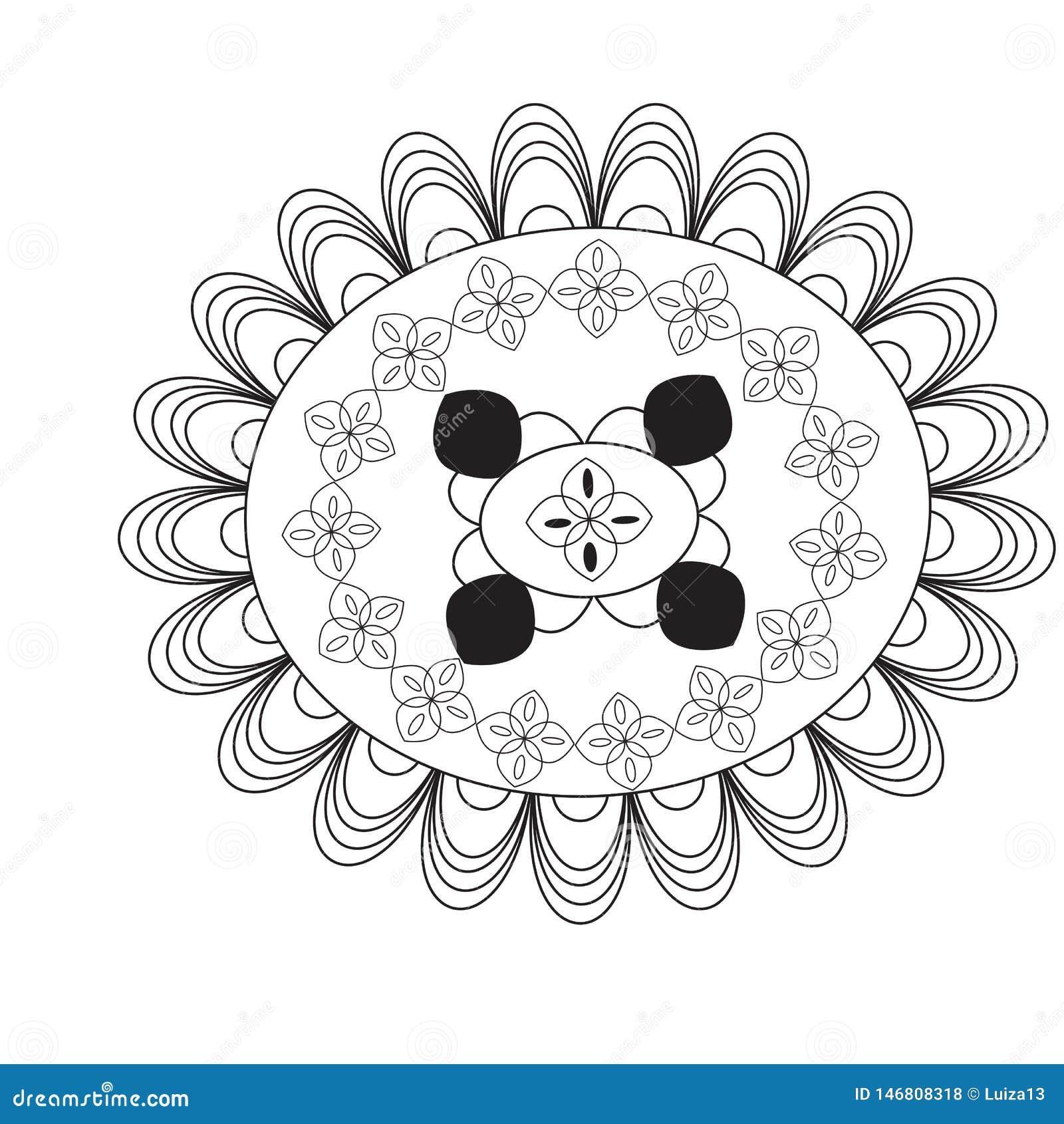 Bloem Mandala Uitstekende decoratieve elementen Oosters patroon, vectorillustratie Mandala kleurende pagina cirkel