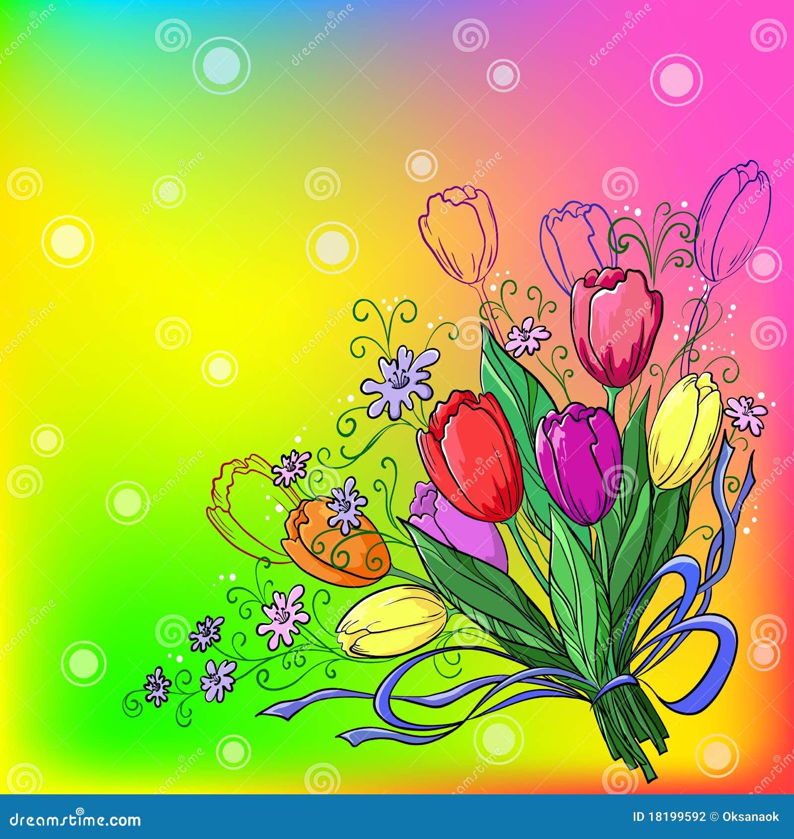 tulpen achtergrond met een - photo #48