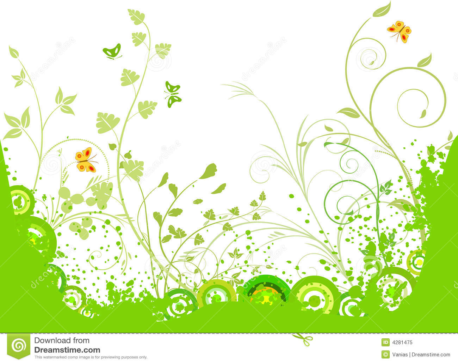 Bloemen artistieke vectorachtergrond