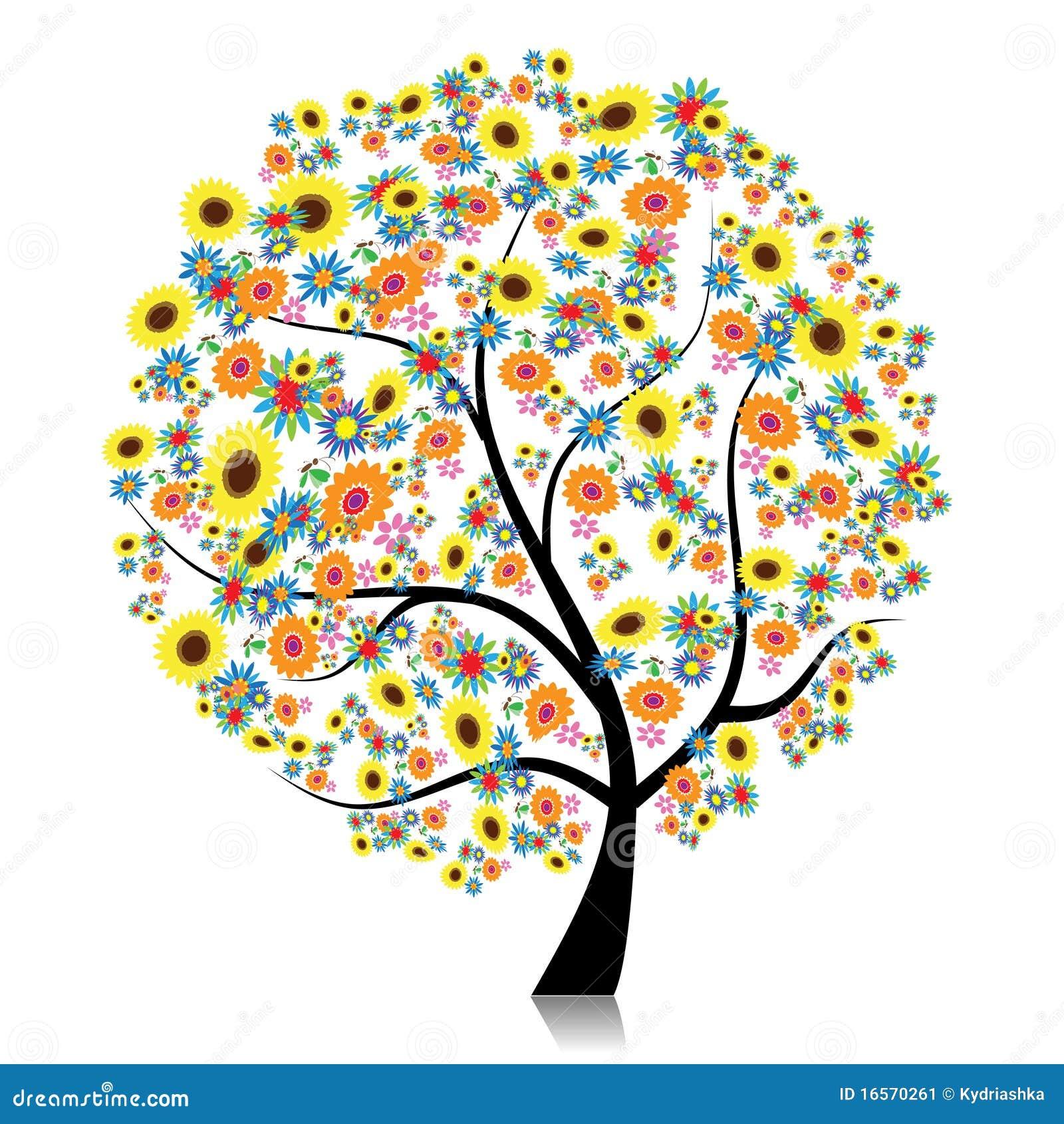 Bloemen boom mooi voor uw ontwerp stock afbeelding afbeelding 16570261 - Boom ontwerp ...