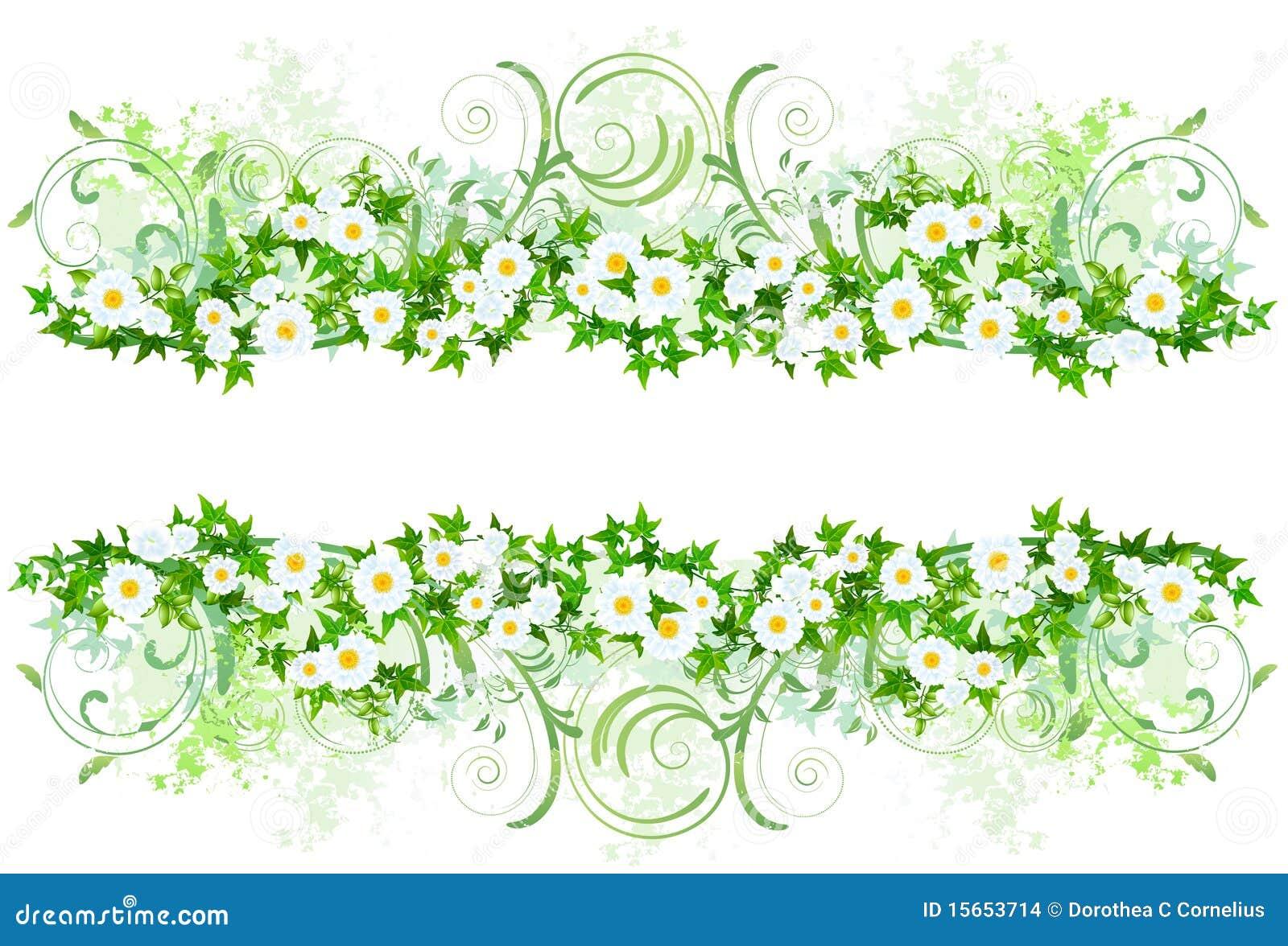 Bloemen decoratie met margrieten stock afbeeldingen for Bloemen decoratie