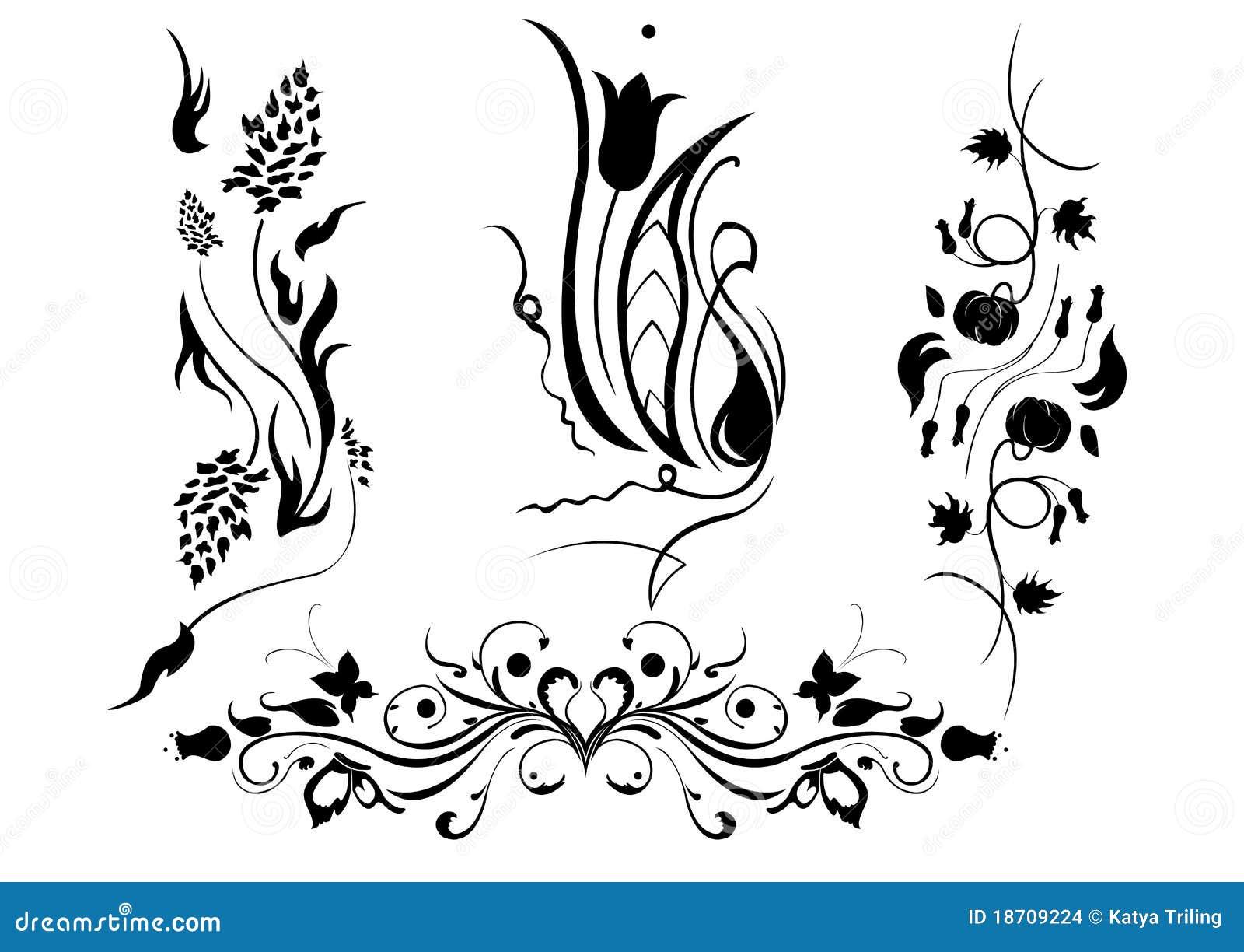 Bloemen elementen