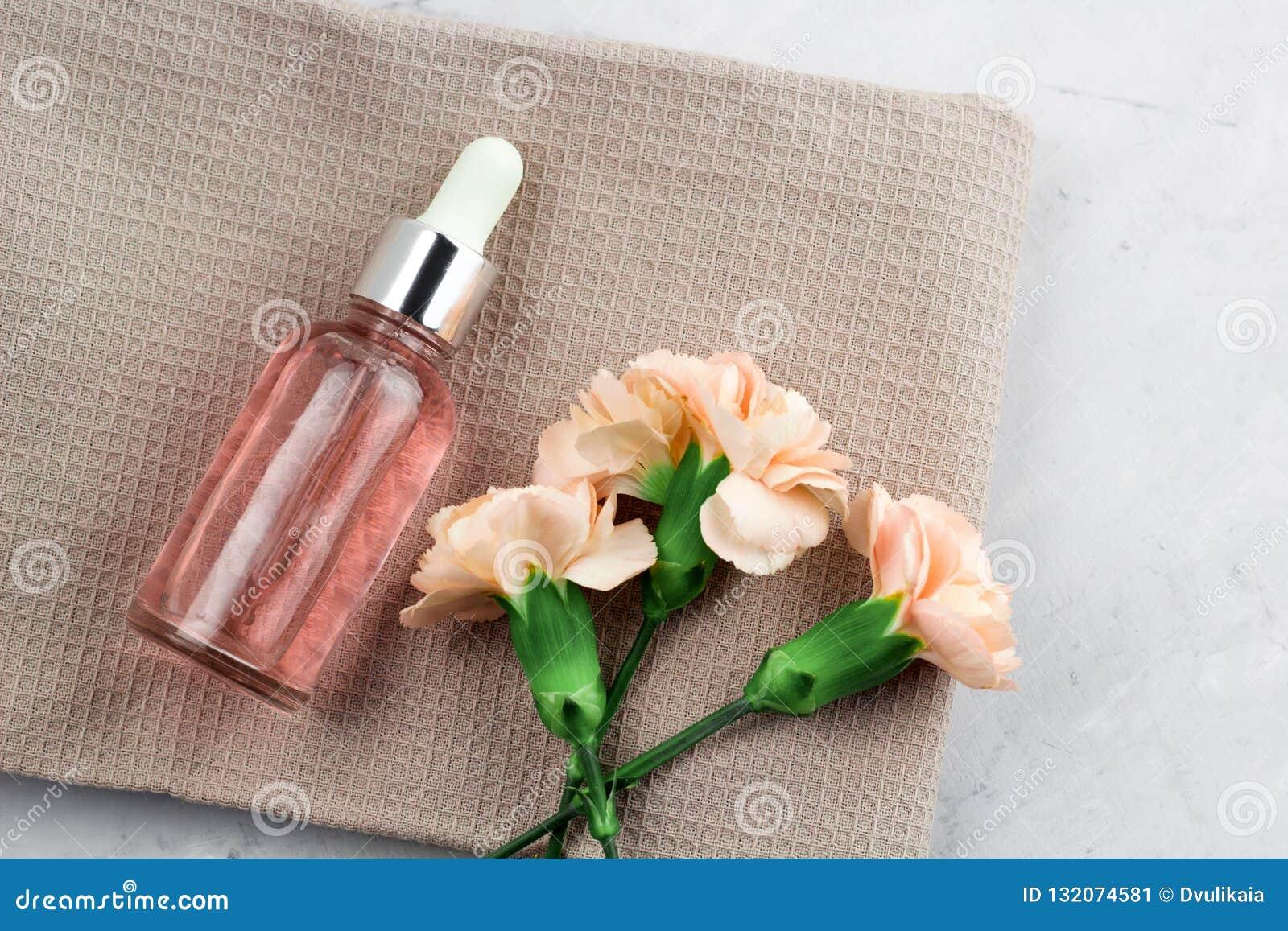 Bloemen en aromaolie