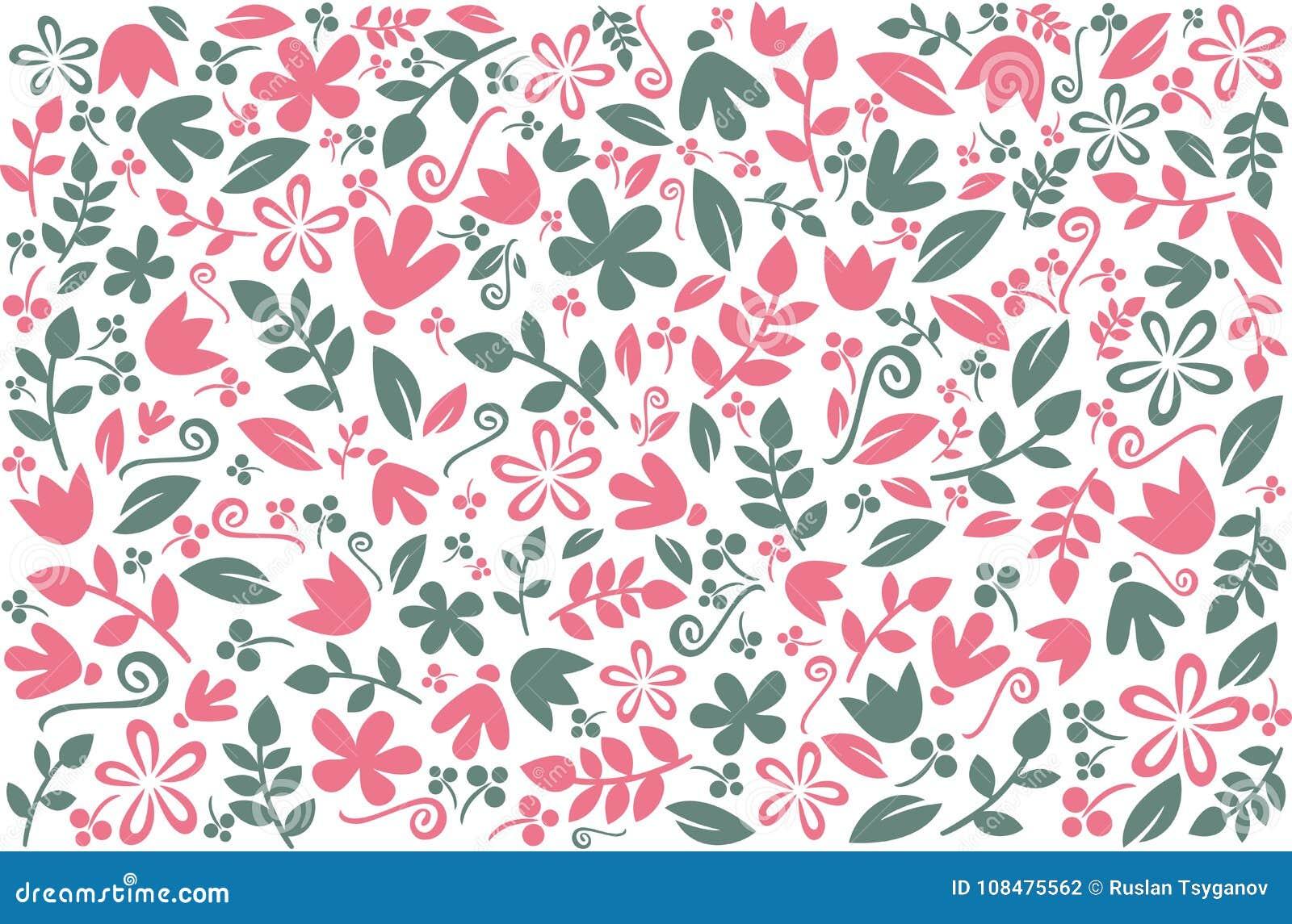 Bloemen kleurrijk ontwerp als achtergrond Vectorachtergrond met elegante bloemenelementen Patroon met bloemen voor behang, mede t