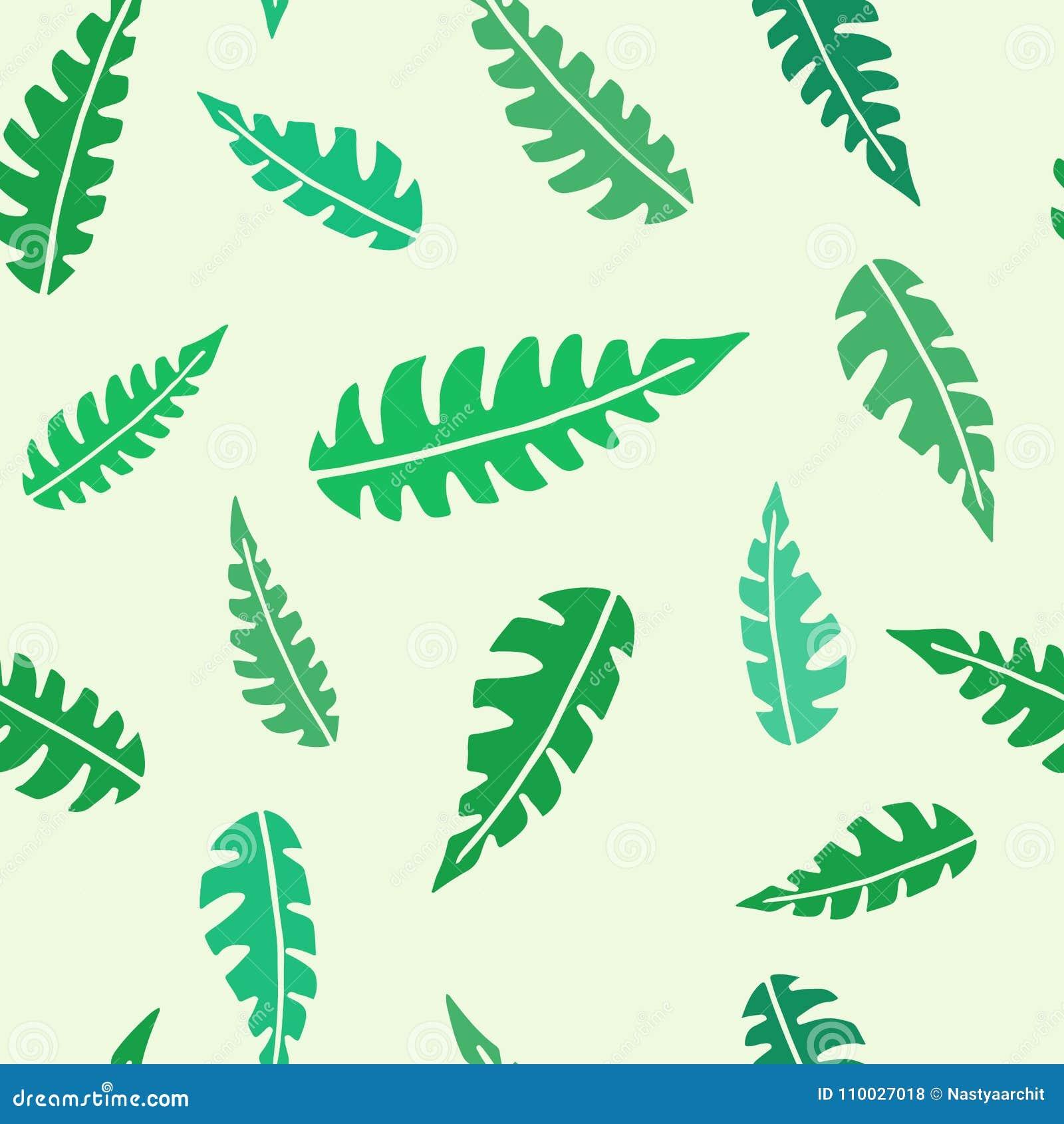 Bloemen naadloos patroon met groene tropische bladeren