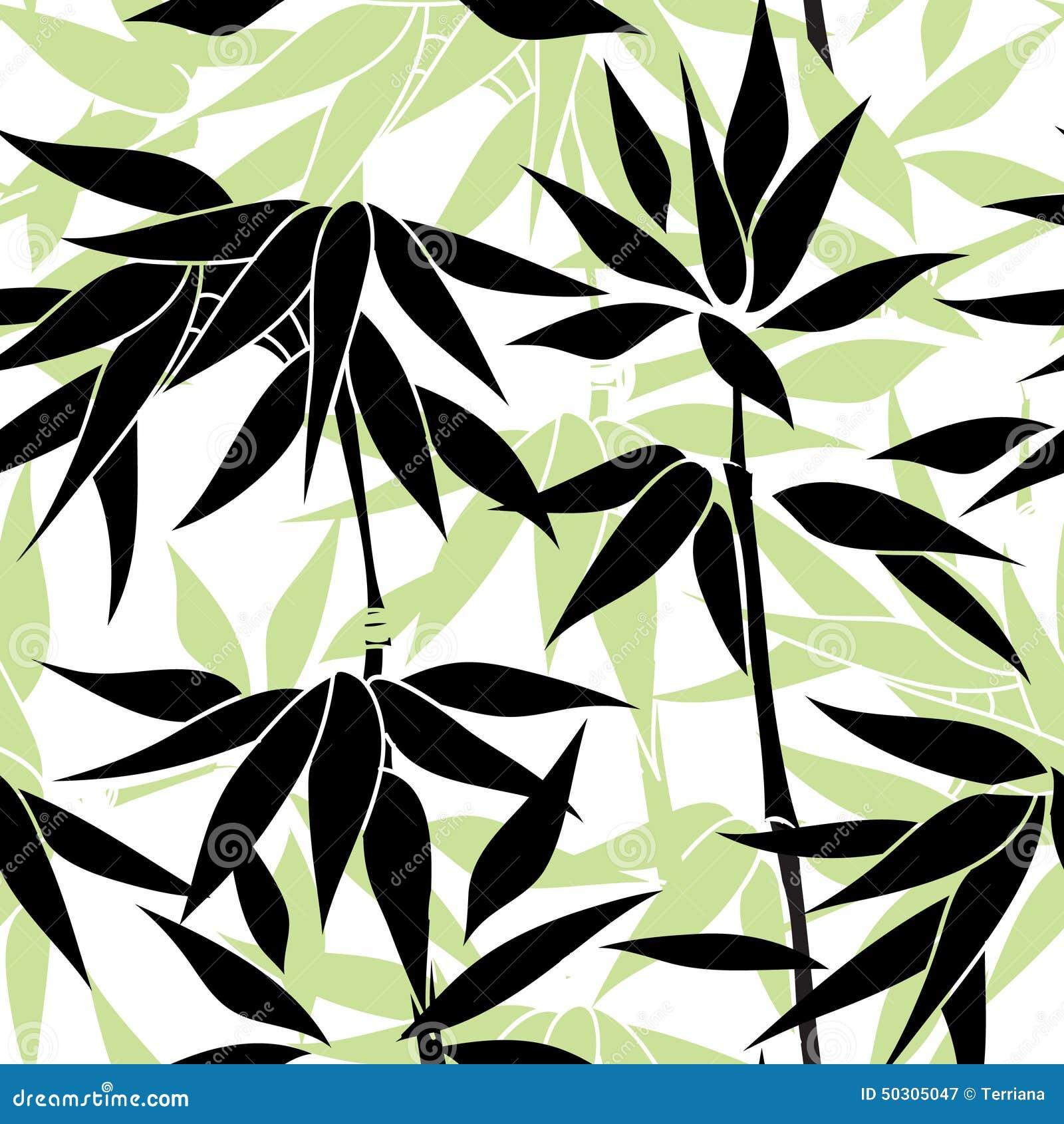 Bloemen naadloze achtergrond Het patroon van het Bamboblad Bloemen naadloos