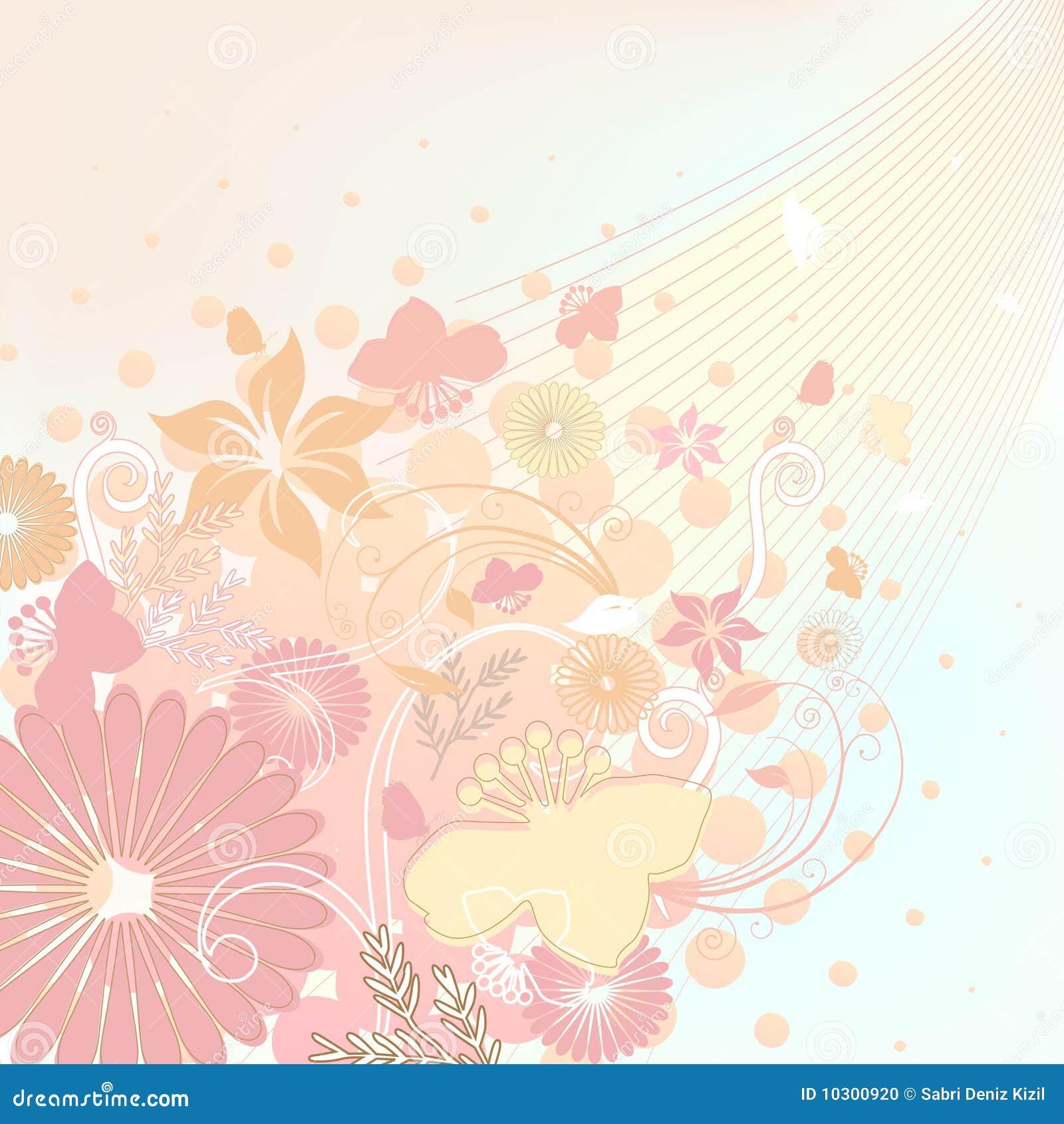 Bloemen ontwerp zachte kleuren stock foto   afbeelding: 10300920