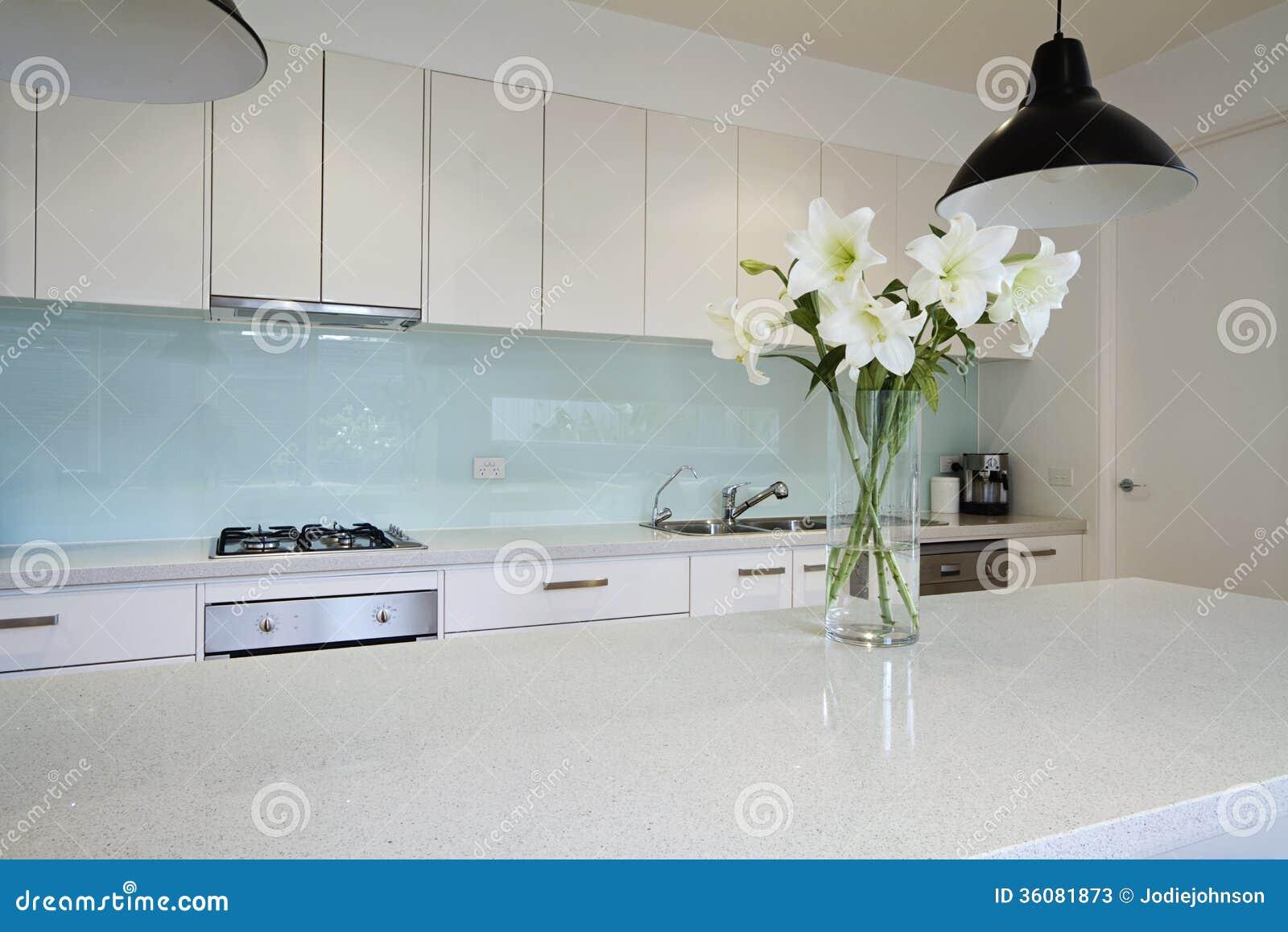 Bloemen op eigentijdse keukenbank stock afbeelding afbeelding 36081873 - Foto eigentijdse keuken ...