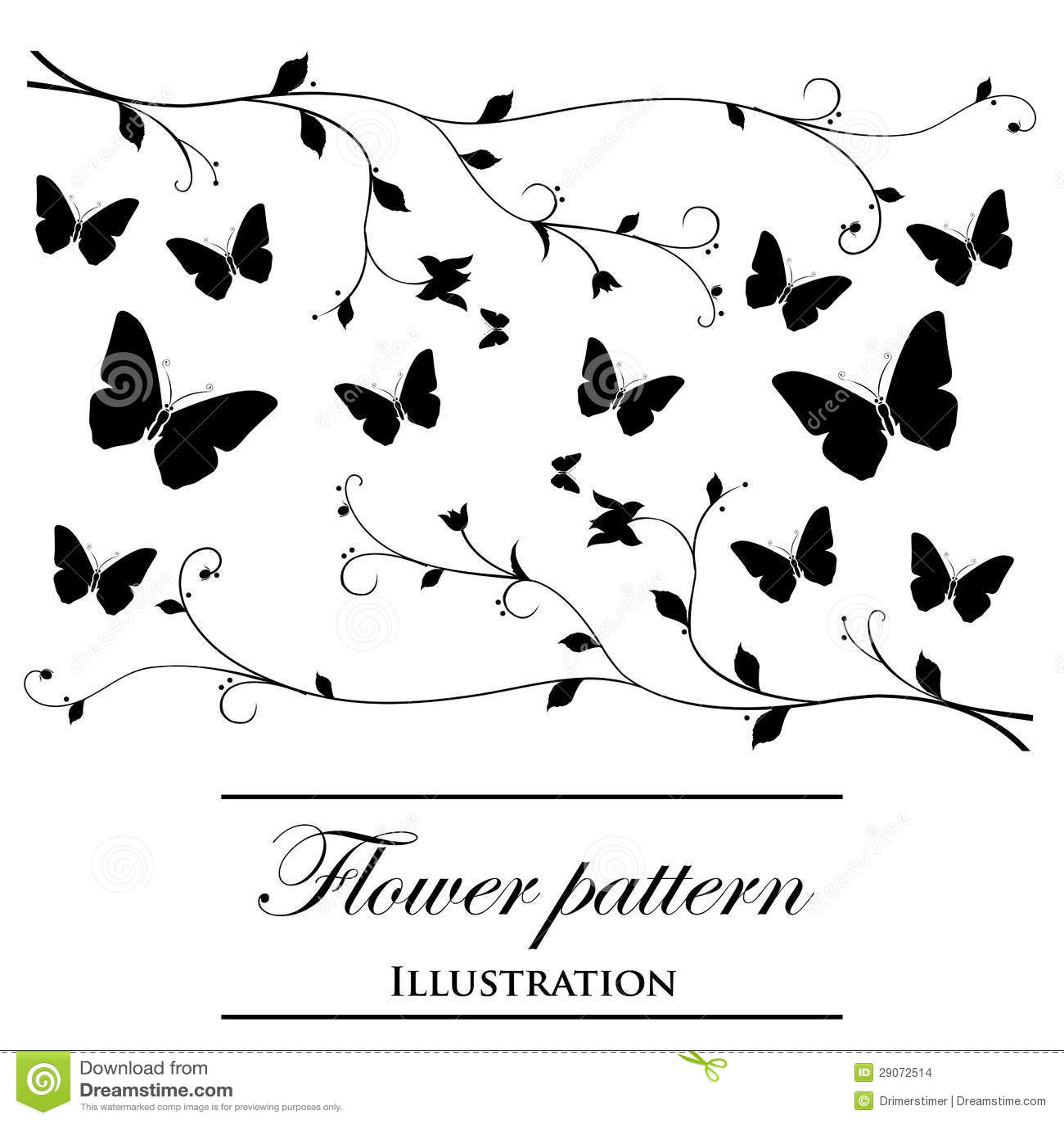 witte achtergrond tekening bloemen - photo #39