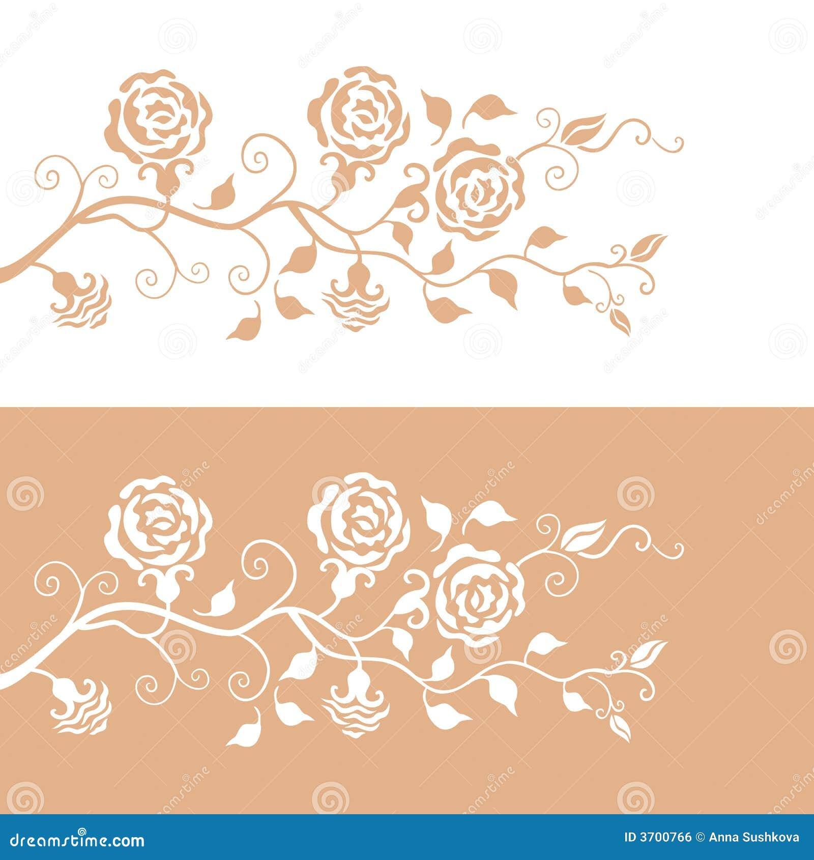 Bloemen patroon met rozen
