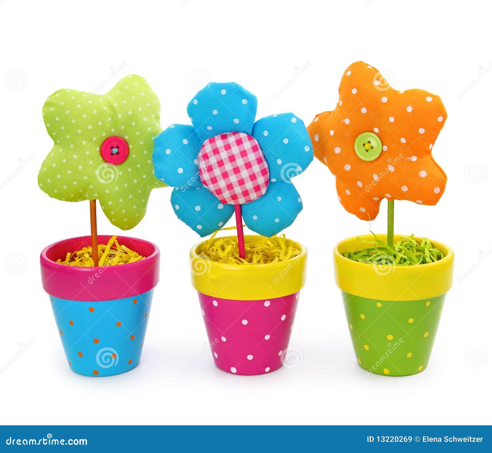 Bloemen in potten