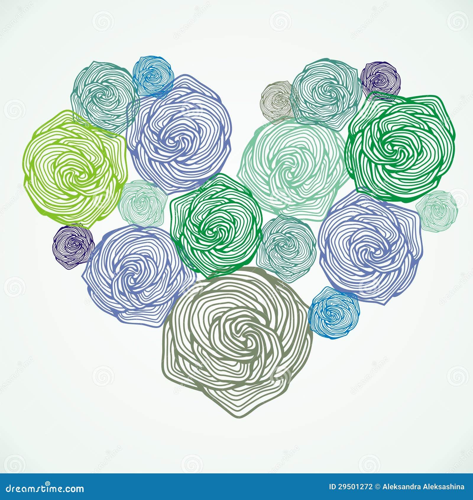 Bloemen vectorhart