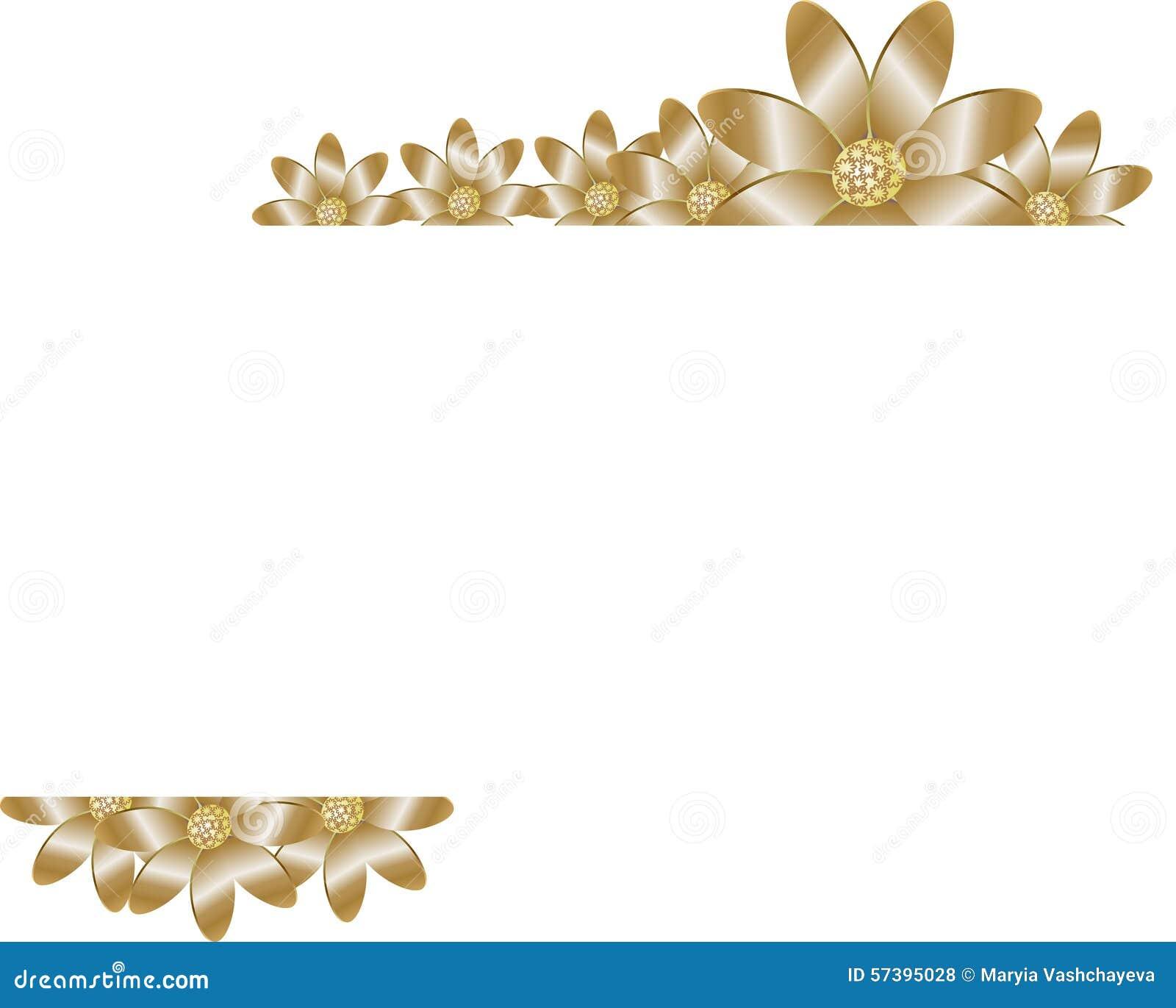 Bloemenachtergrond met gouden bloem