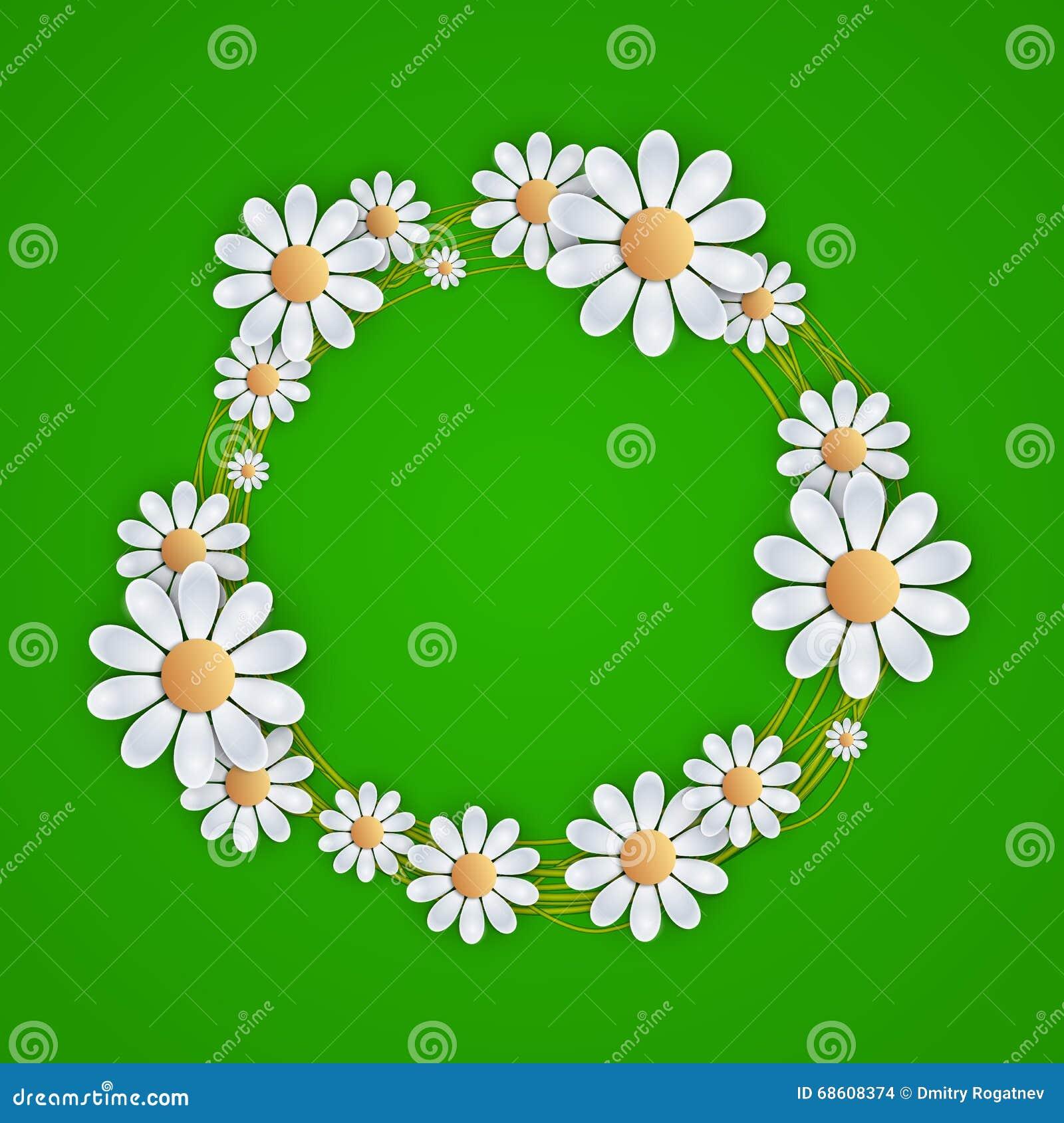 Bloemenachtergrond met madeliefje,