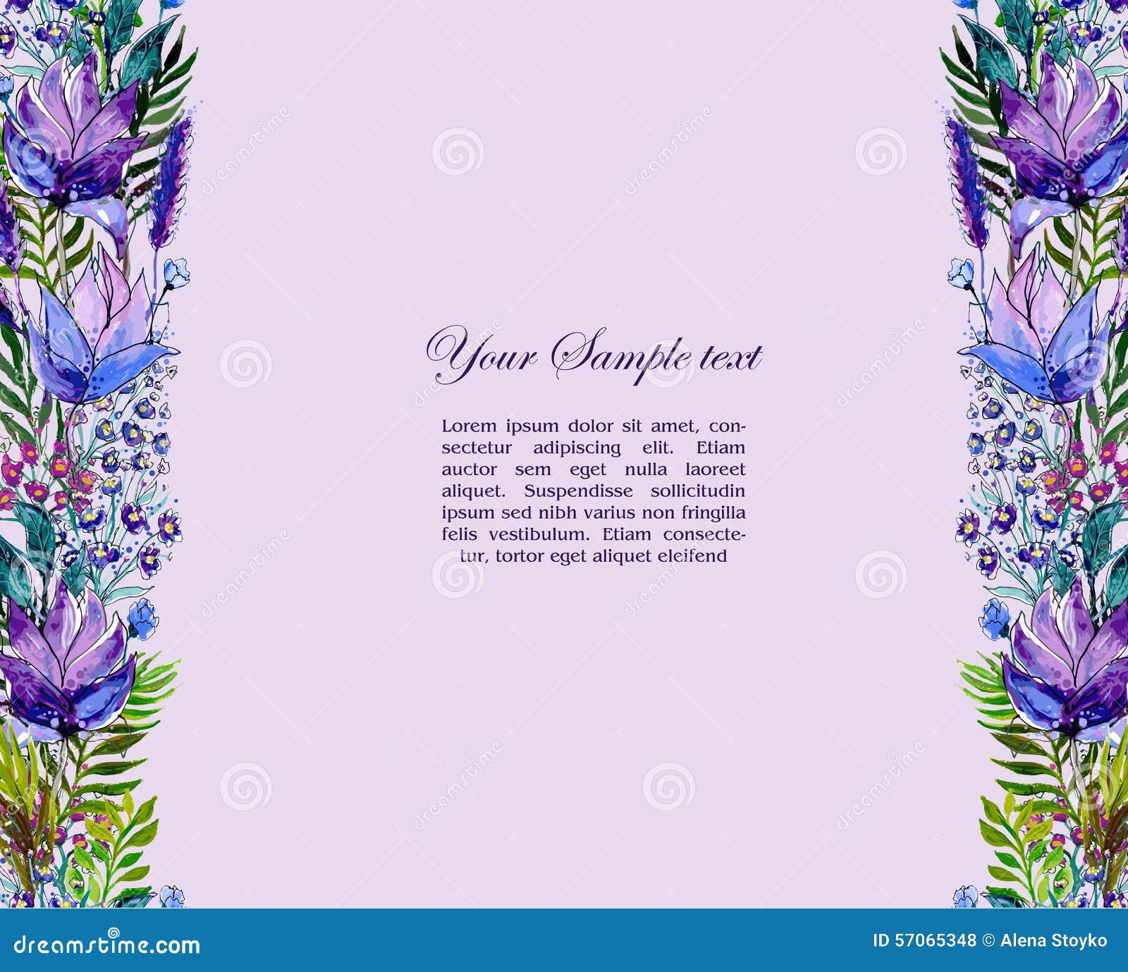 Bloemengrens met wildflowers