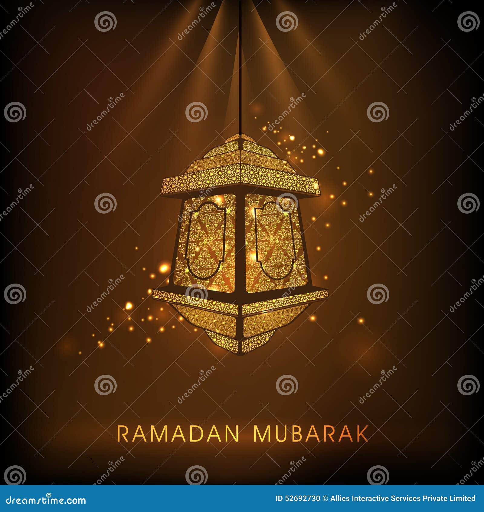 Bloemenlamp voor viering van de maandramadan kareem van Moslims de heilige