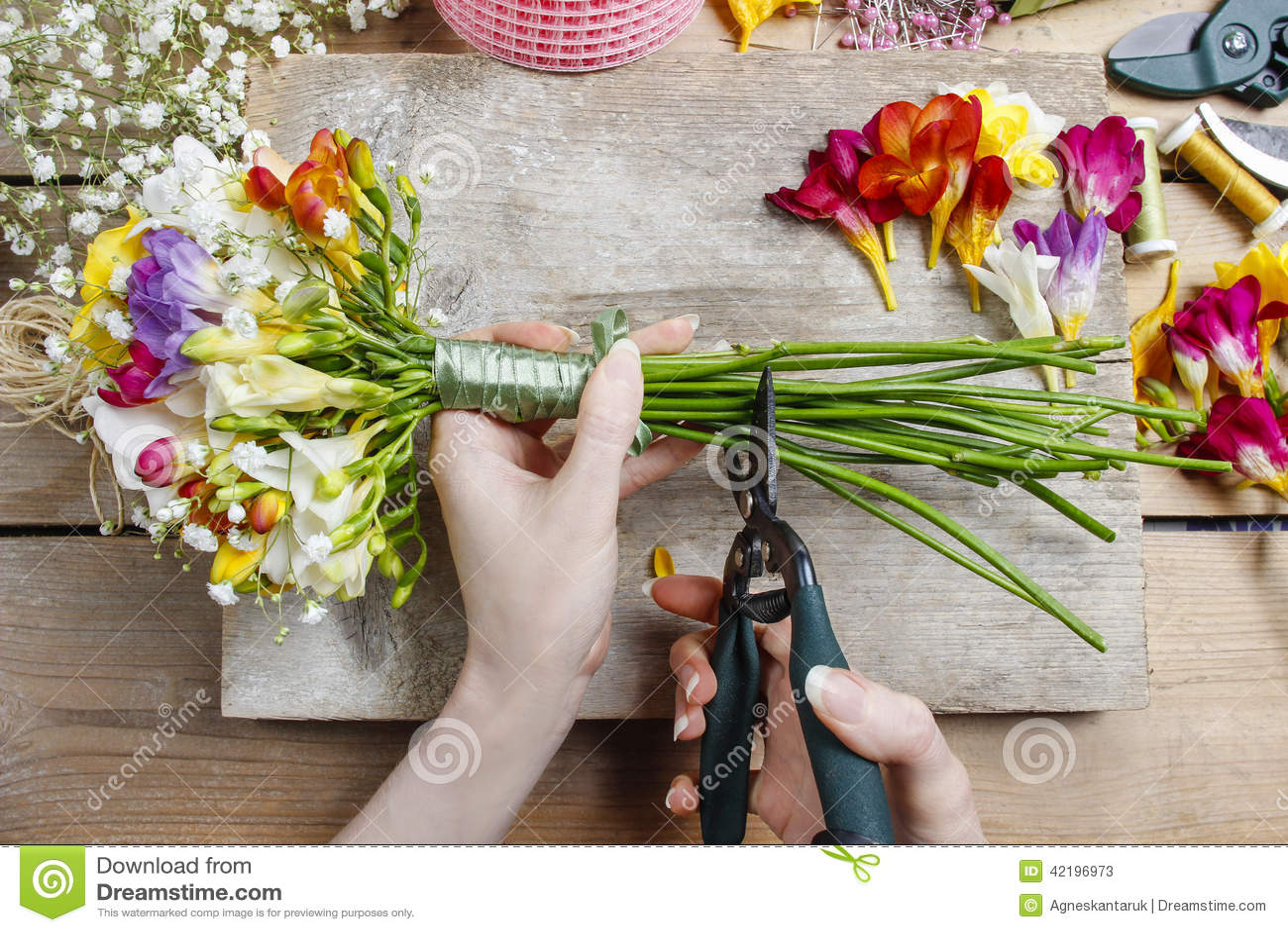 boeket bloemen maken