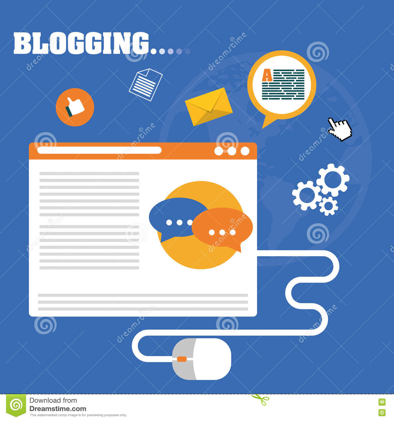 Blog, blogging and blogglers theme