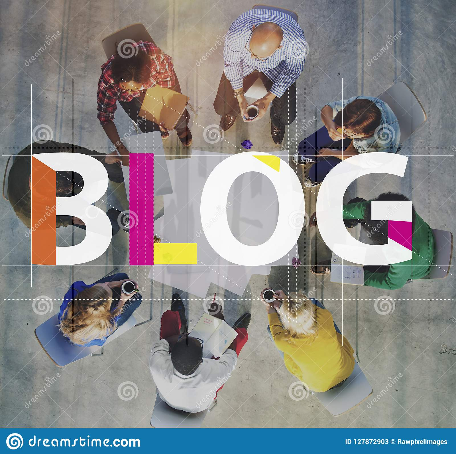Blog che collega concetto contento di informazioni del homepage