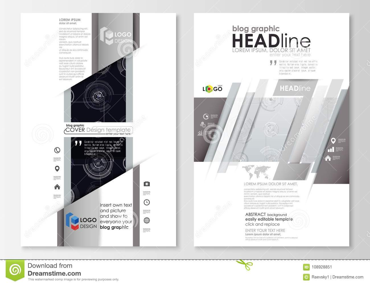 blog graphic business templates page website template flat layout