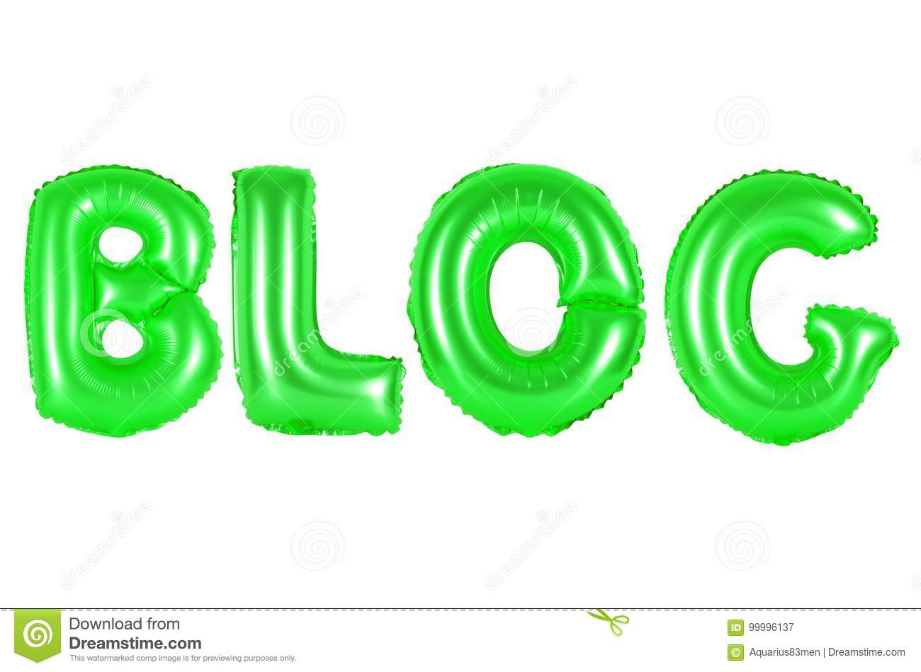 Blog, green color stock image. Image of education, letter - 99996137