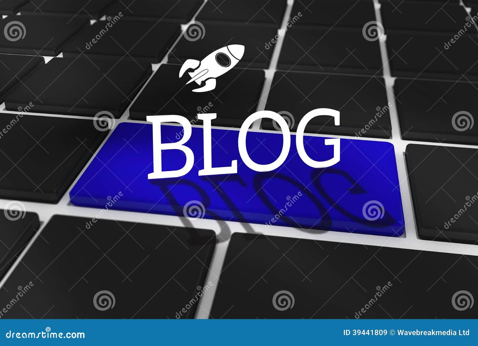 Blog przeciw czarnej klawiaturze z błękita kluczem
