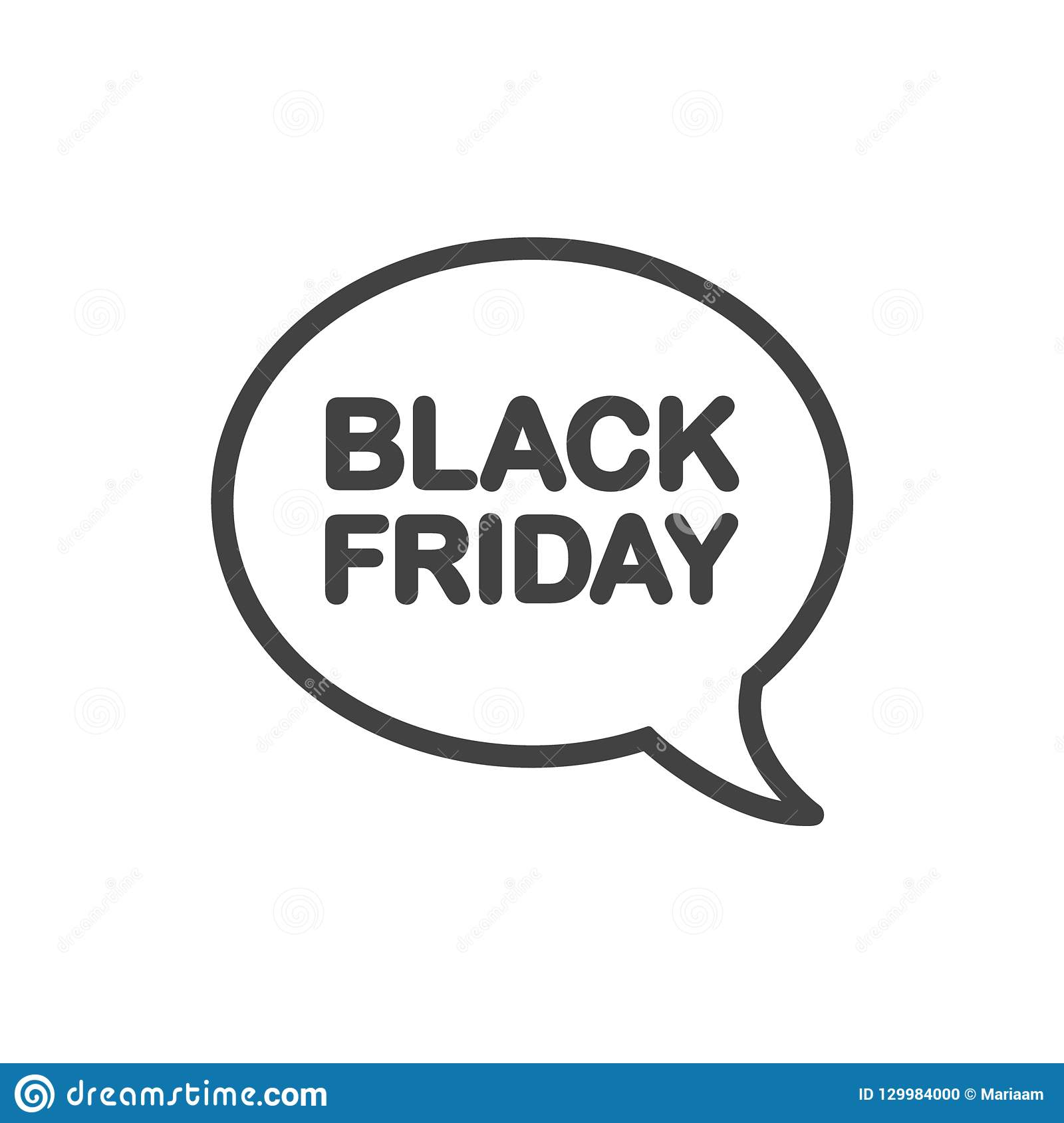 edd94a3a8 Great Offers On Black Friday! Speech Bubble Clean Design Icon. Stock ...