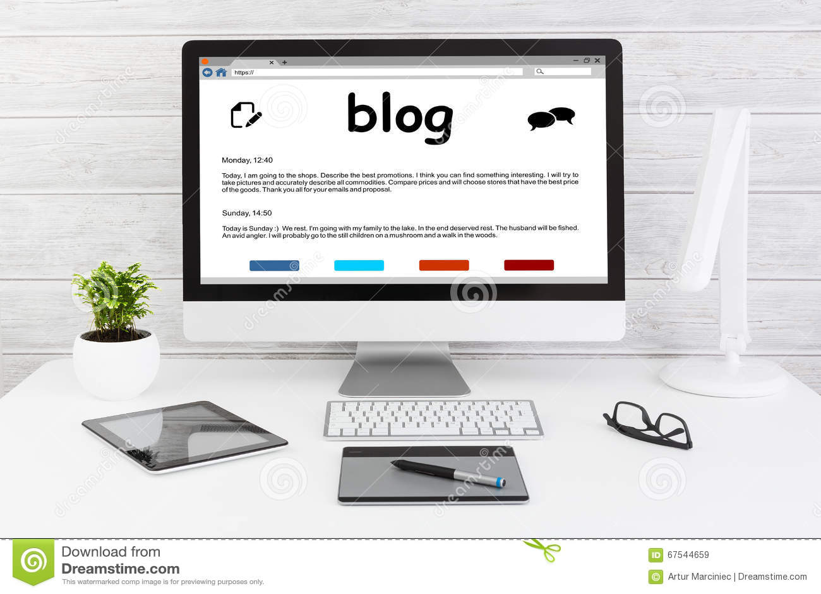 Blog Weblog Media Digital Dictionary Online Concepts  Stock Image