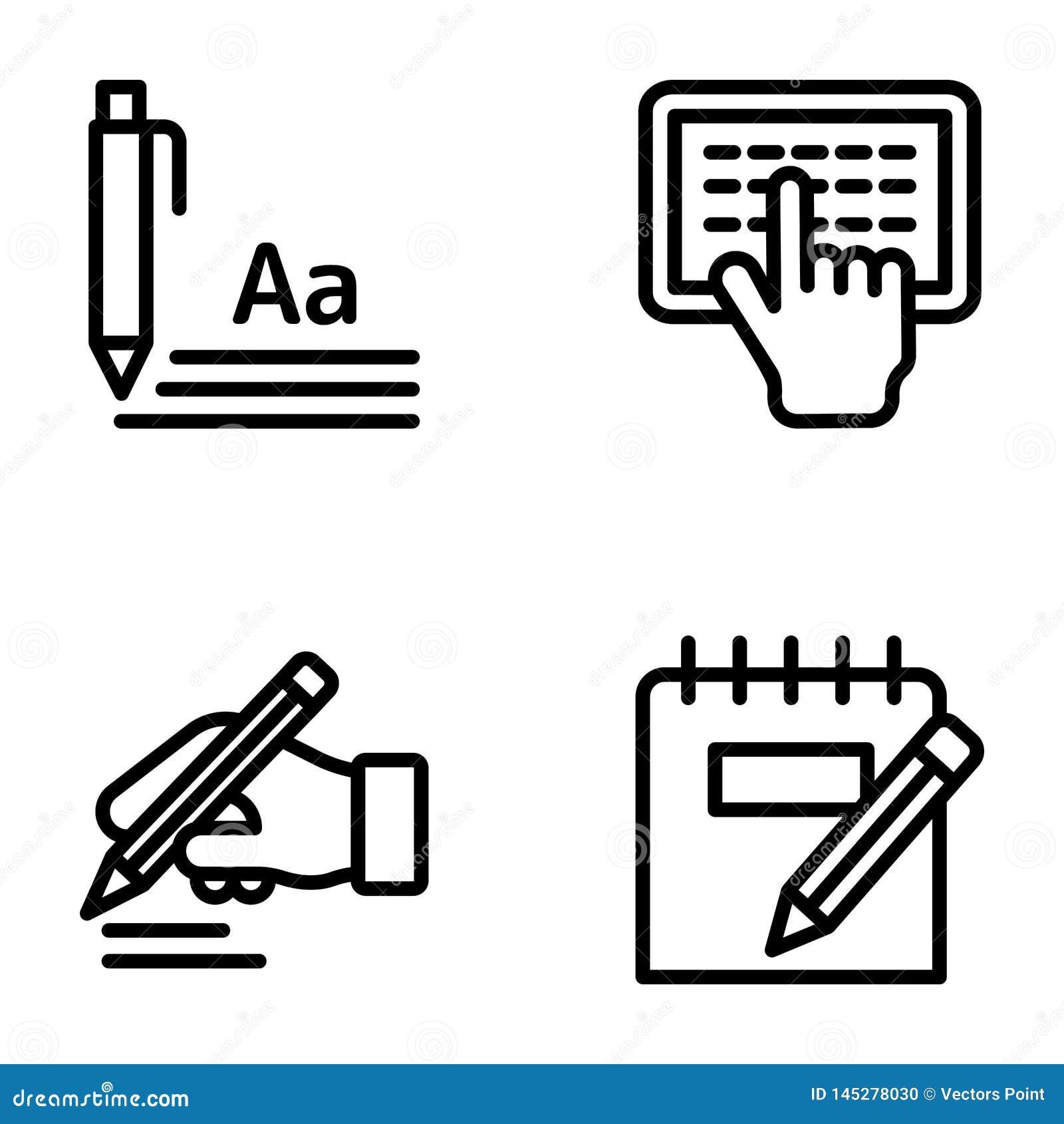 Blogging i Pisać Kreskowej ikony paczce