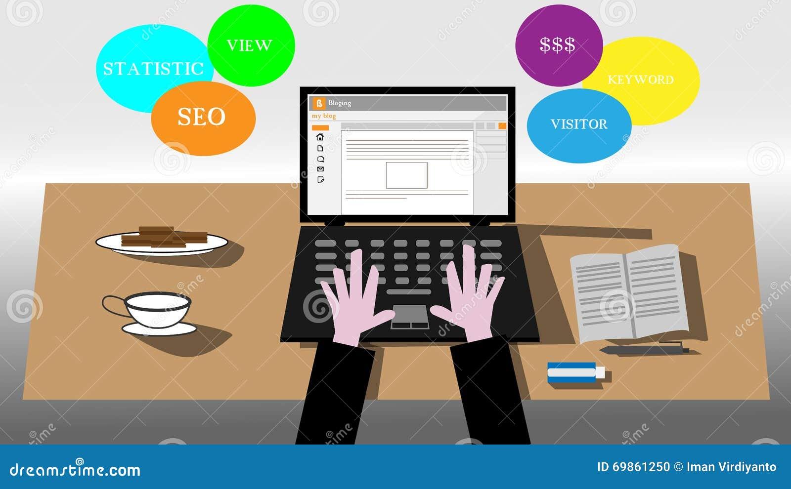 Blogging ilustrations