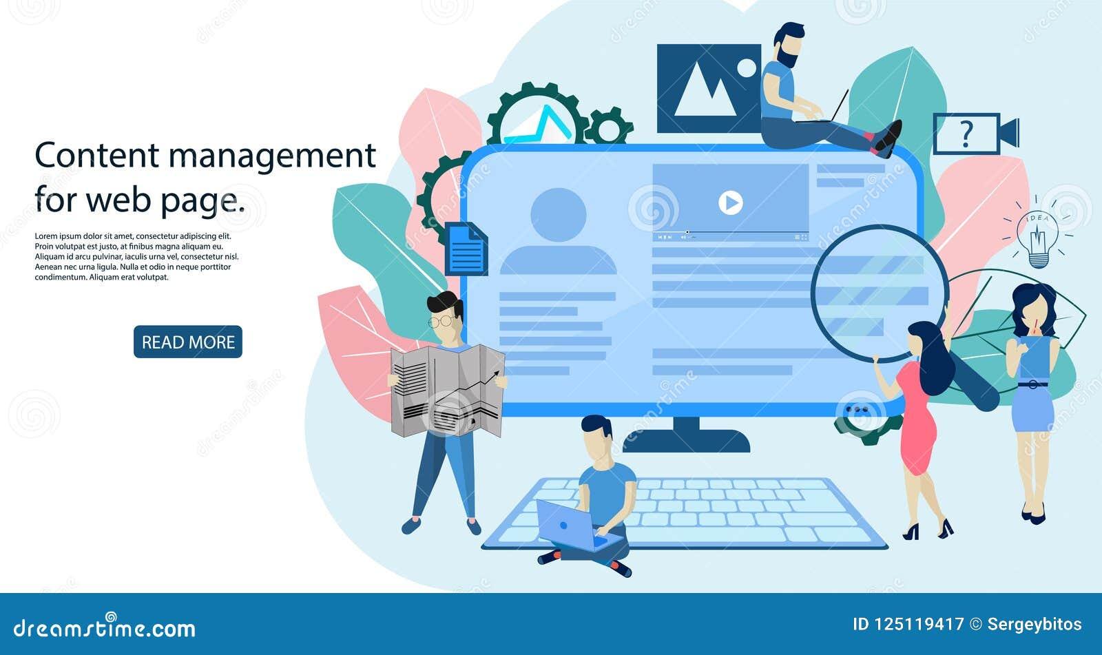 Blogging Konzept, Content Management für Webseite
