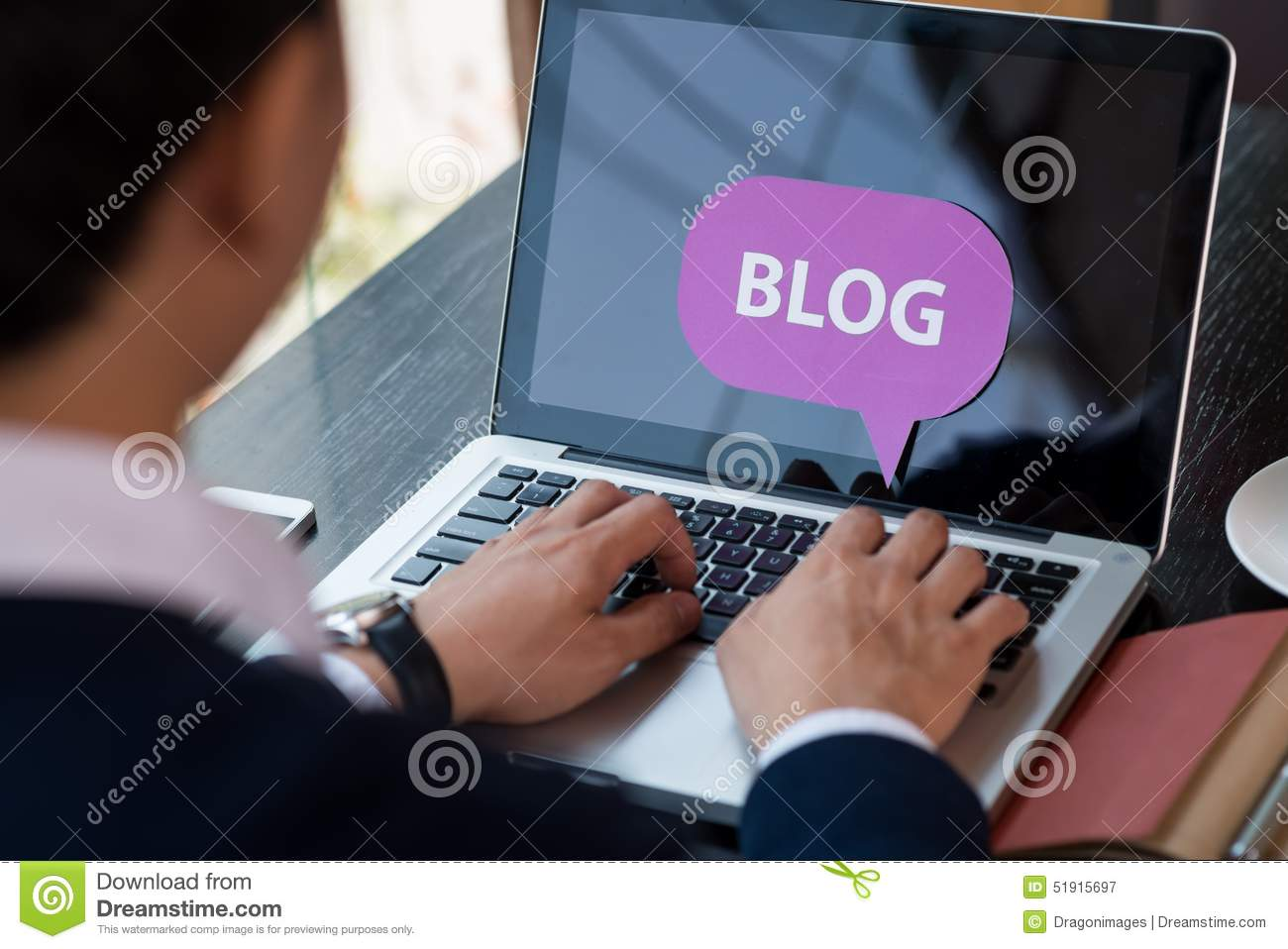 Blogging man
