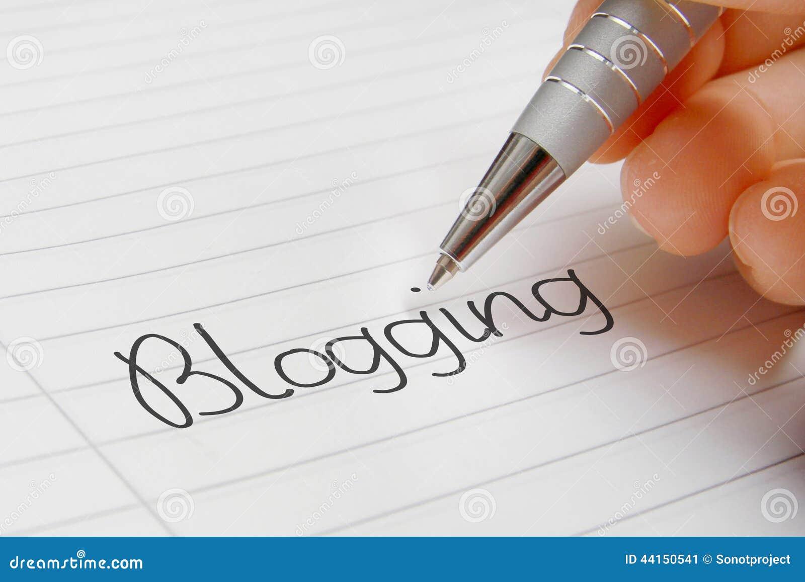Blogging word handwriting