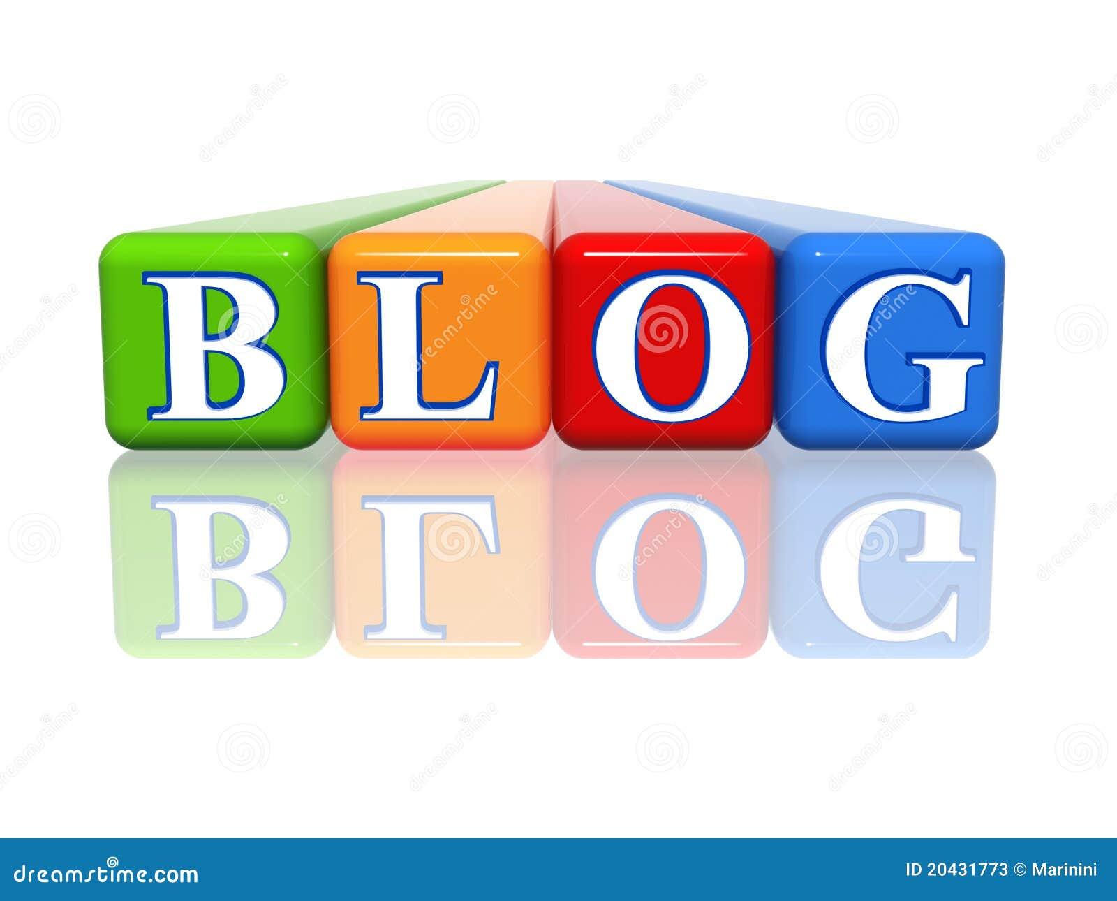 Blogu colour sześcianów odbicie