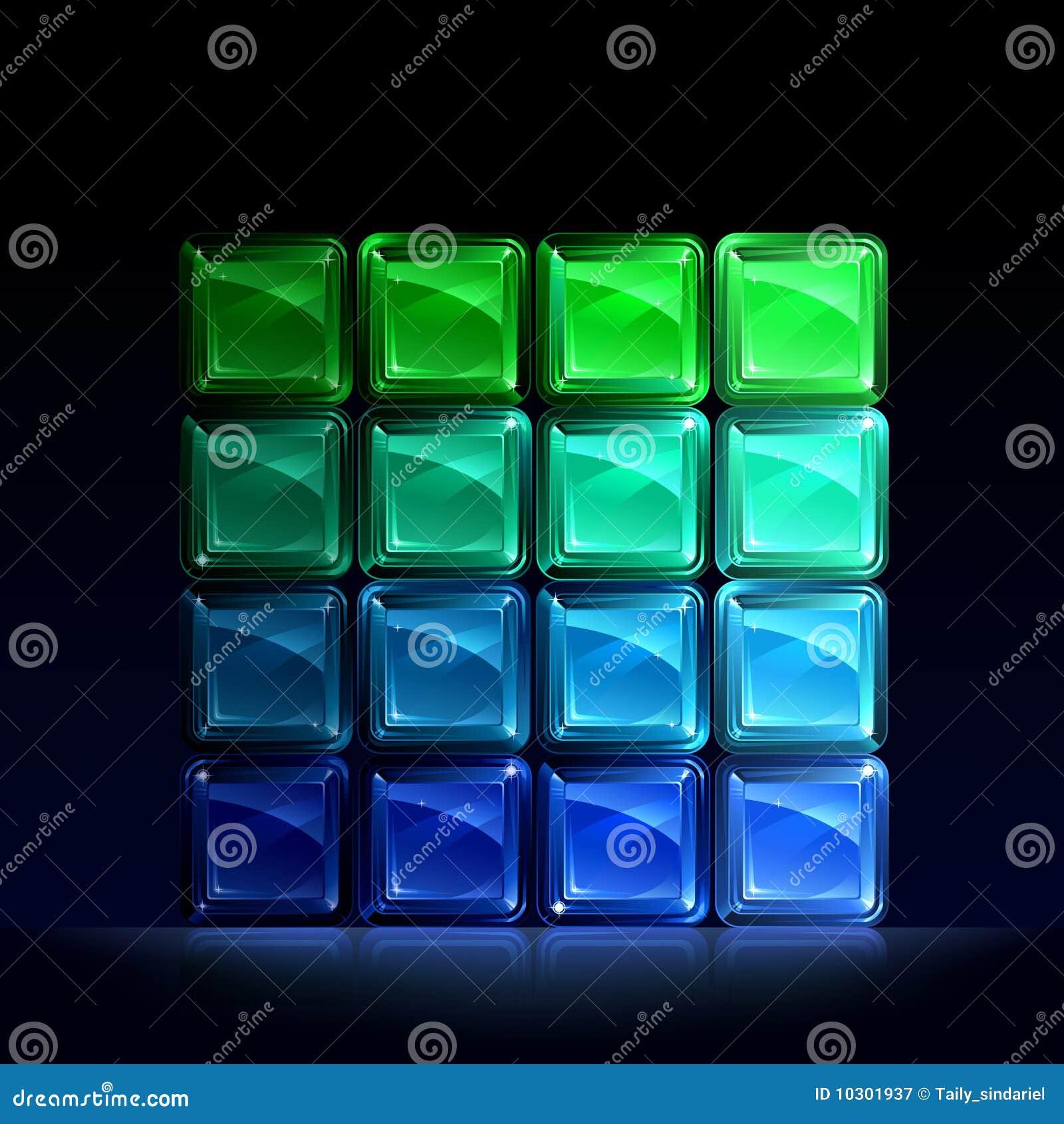 Bloków błękitny szkła zieleń