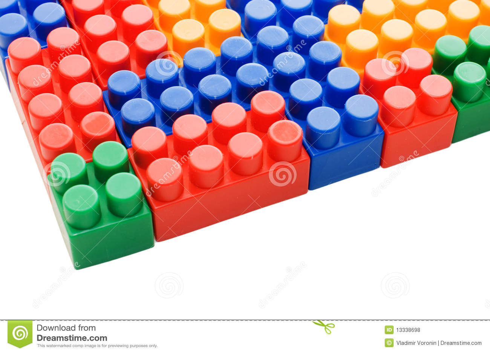 Bloki barwili wielo- plastikowego biel