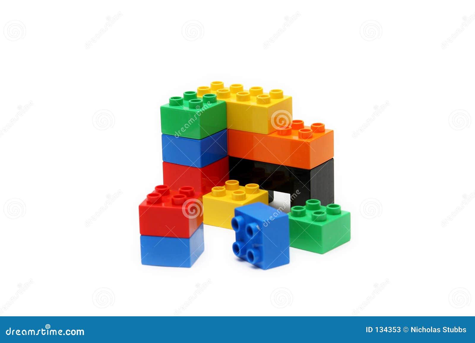 Blokuje budynków tło białe kolorowego dzieci